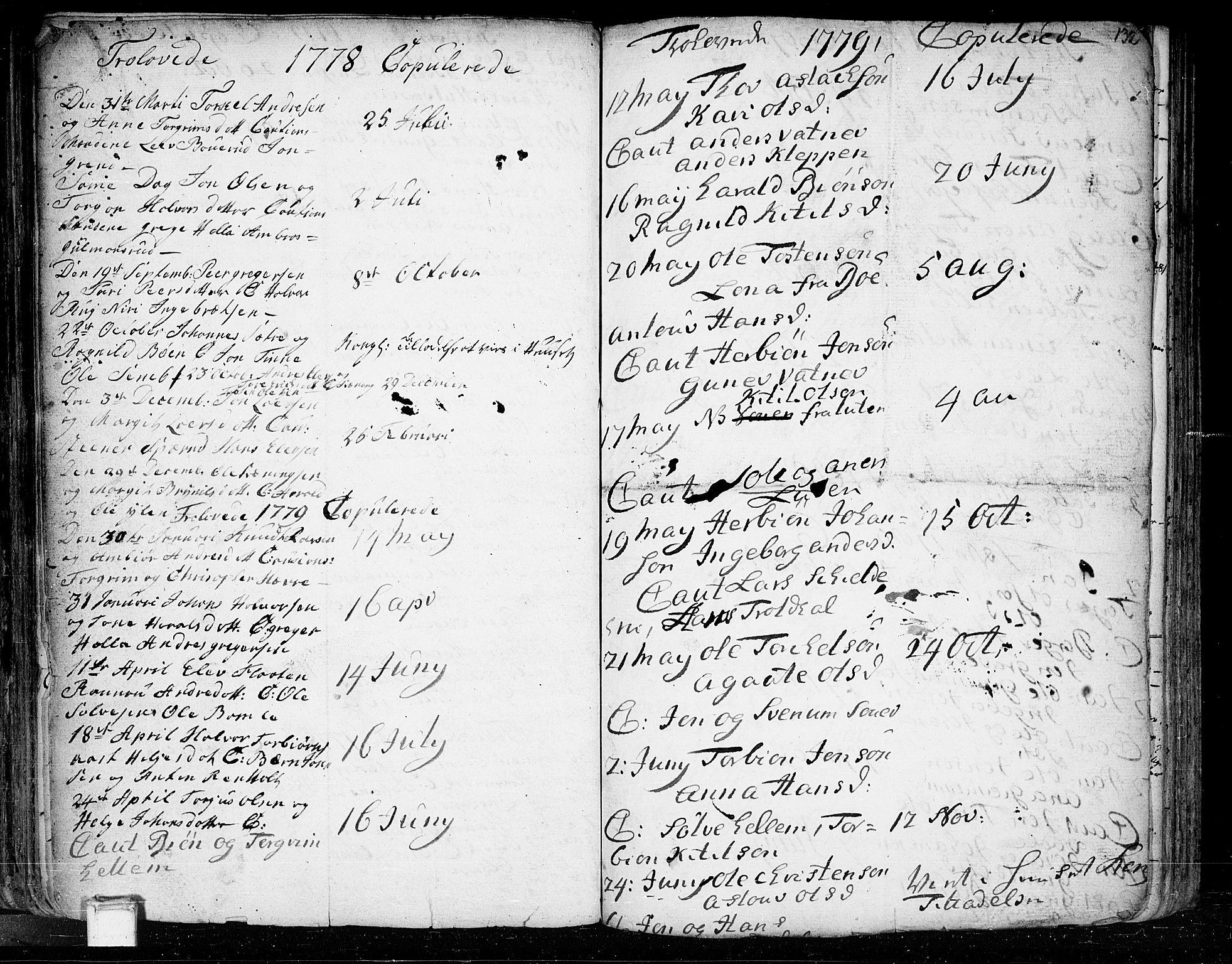 SAKO, Heddal kirkebøker, F/Fa/L0003: Ministerialbok nr. I 3, 1723-1783, s. 132