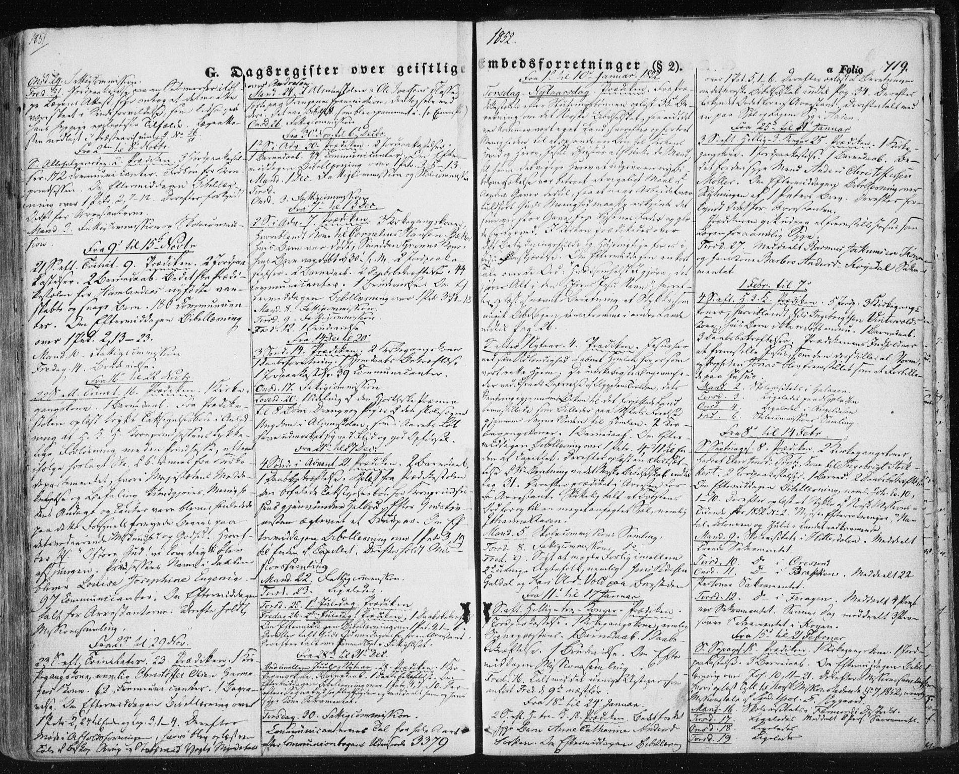 SAT, Ministerialprotokoller, klokkerbøker og fødselsregistre - Sør-Trøndelag, 681/L0931: Ministerialbok nr. 681A09, 1845-1859, s. 719