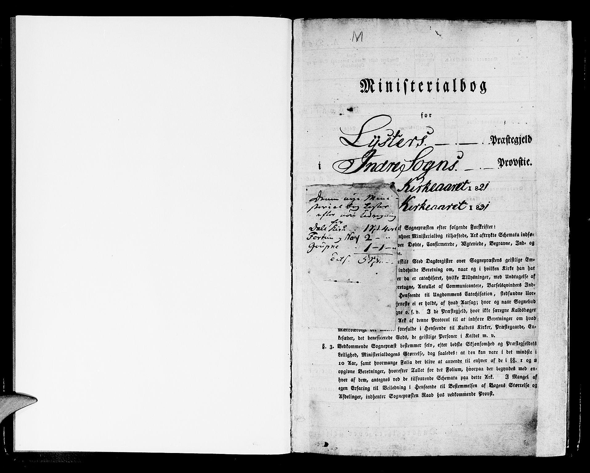 SAB, Luster sokneprestembete, H/Haa/Haaa/L0004: Ministerialbok nr. A 4, 1821-1832