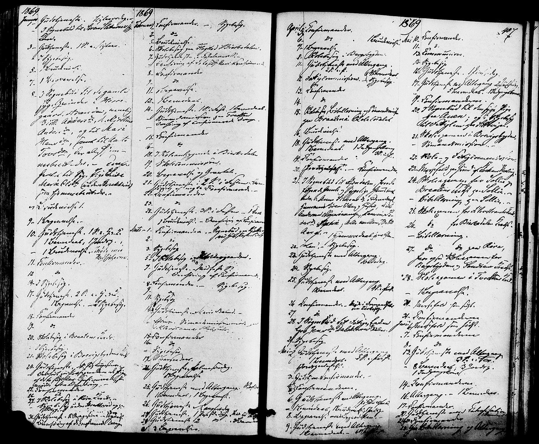 SAKO, Eidanger kirkebøker, F/Fa/L0010: Ministerialbok nr. 10, 1859-1874, s. 407
