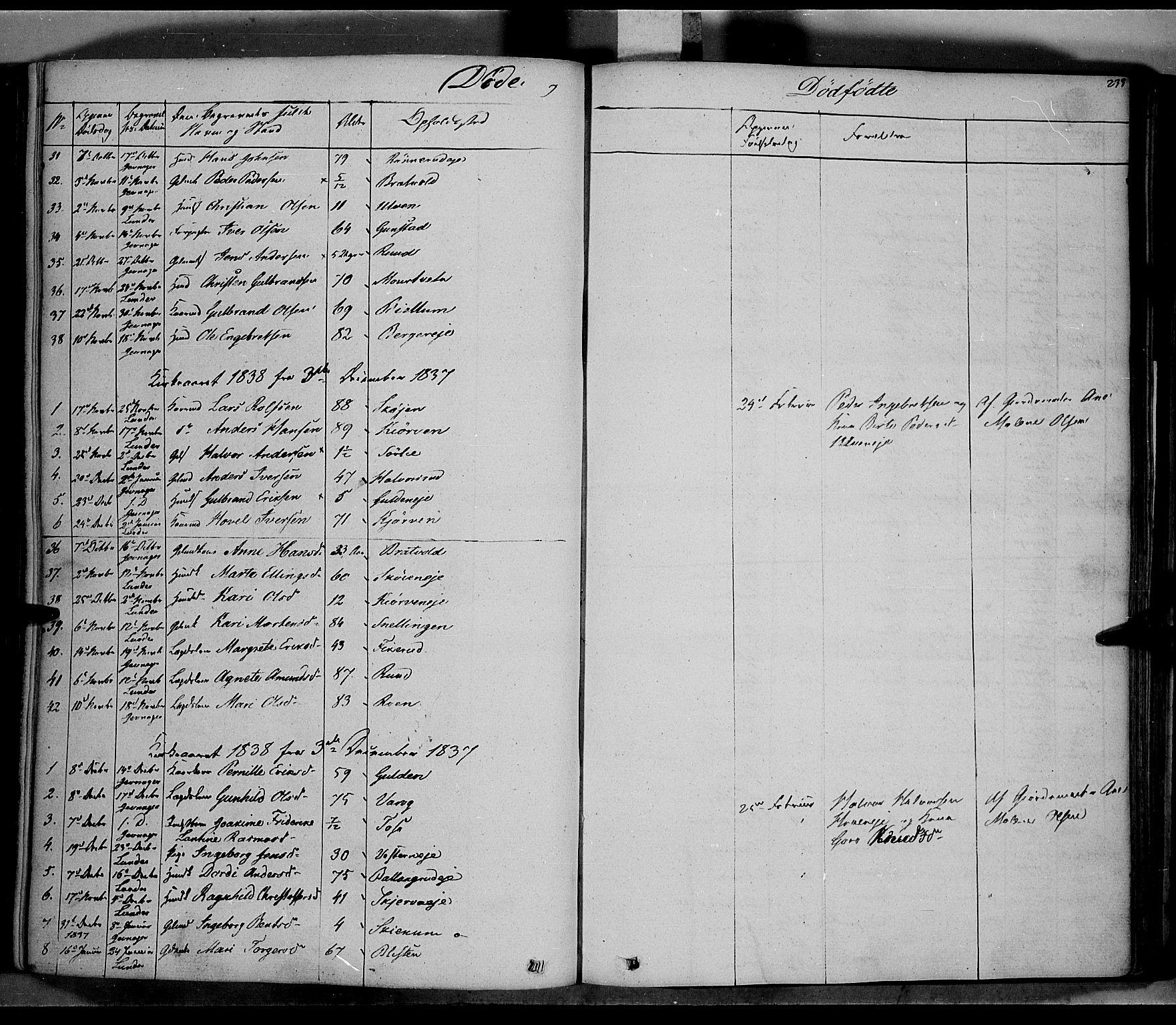 SAH, Jevnaker prestekontor, Ministerialbok nr. 6, 1837-1857, s. 233