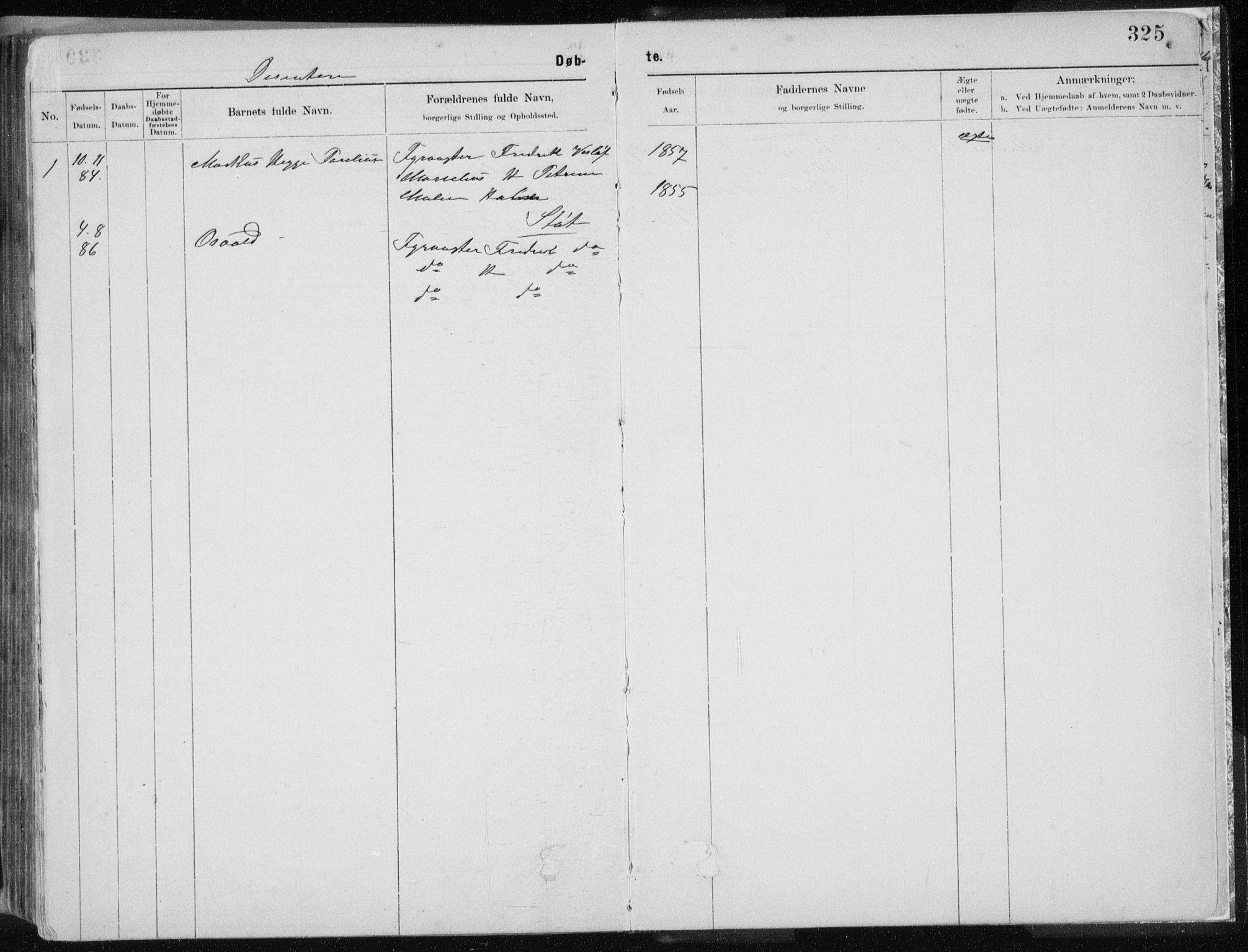 SAT, Ministerialprotokoller, klokkerbøker og fødselsregistre - Nordland, 843/L0636: Klokkerbok nr. 843C05, 1884-1909, s. 325