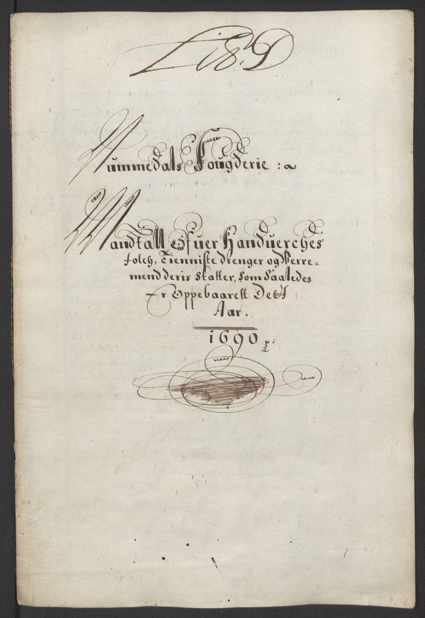 RA, Rentekammeret inntil 1814, Reviderte regnskaper, Fogderegnskap, R64/L4423: Fogderegnskap Namdal, 1690-1691, s. 23
