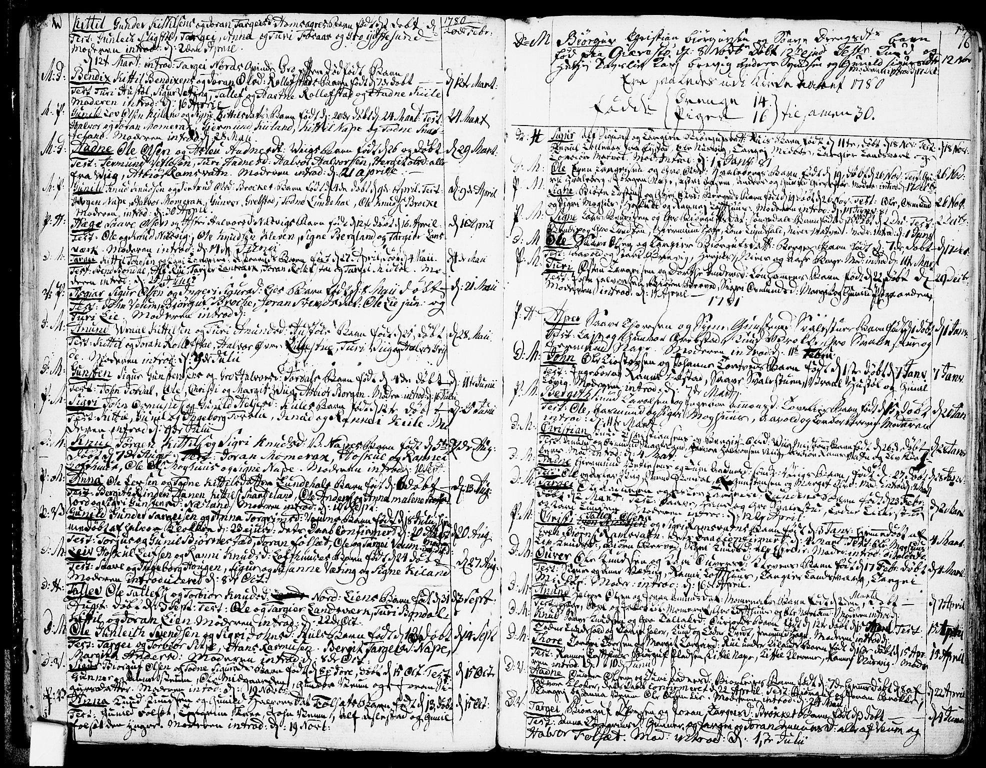SAKO, Fyresdal kirkebøker, F/Fa/L0002: Ministerialbok nr. I 2, 1769-1814, s. 16