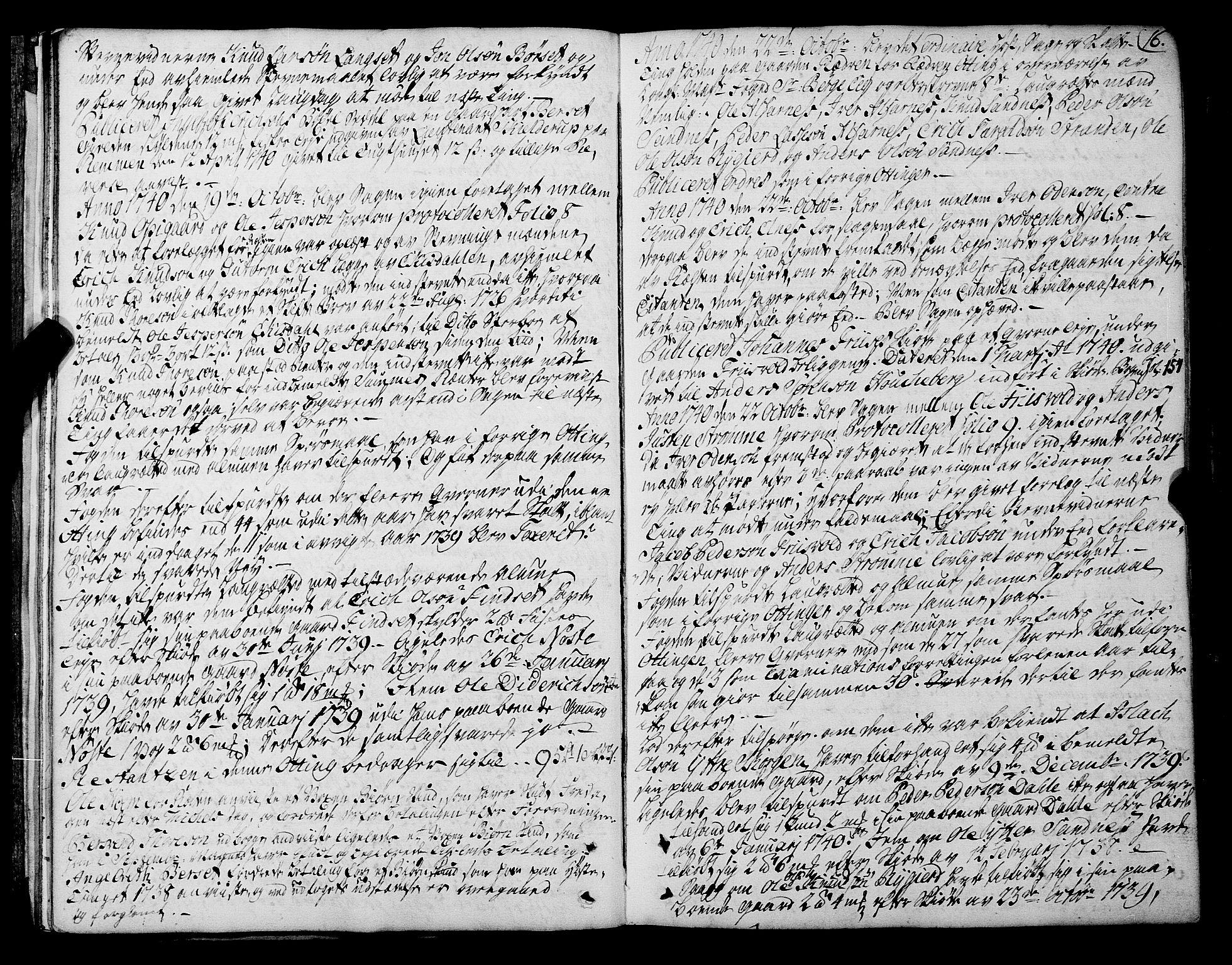 SAT, Romsdal sorenskriveri, 1/1A/L0012: Tingbok, 1740-1749, s. 15b-16a
