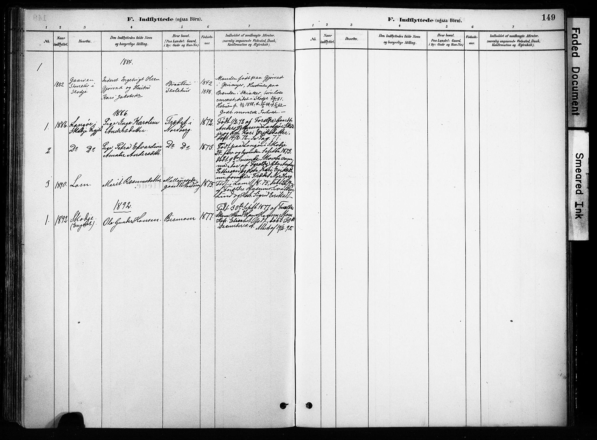 SAH, Skjåk prestekontor, Ministerialbok nr. 4, 1880-1904, s. 149