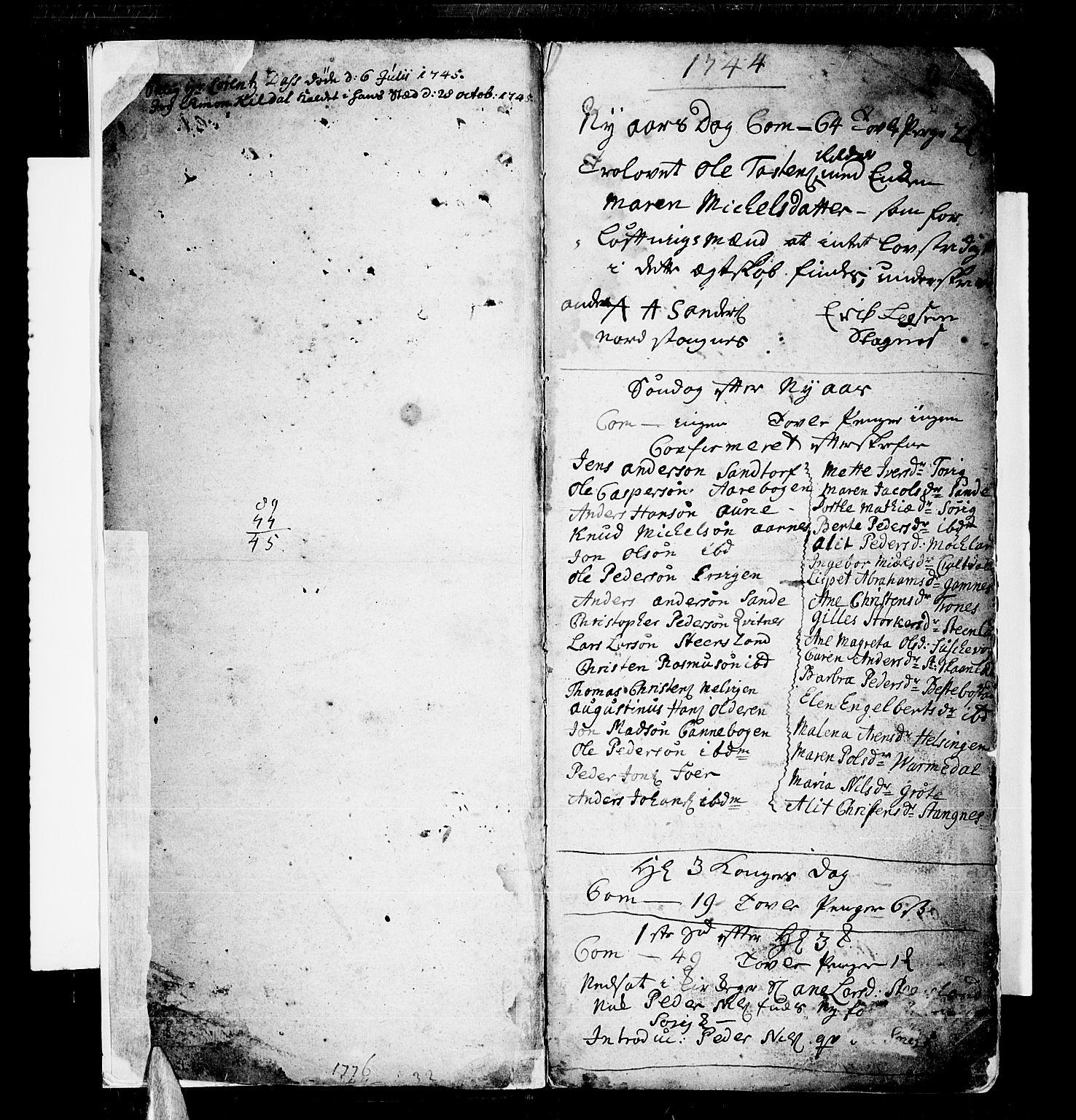 SATØ, Trondenes sokneprestkontor, H/Ha/L0001kirke: Ministerialbok nr. 1, 1744-1777, s. 2