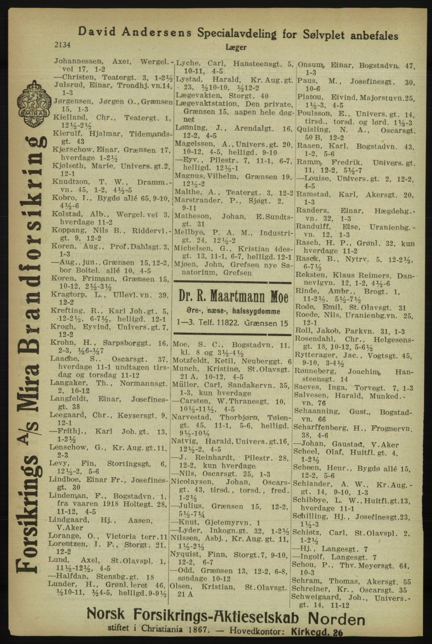 PUBL, Kristiania/Oslo adressebok, 1918, s. 2287