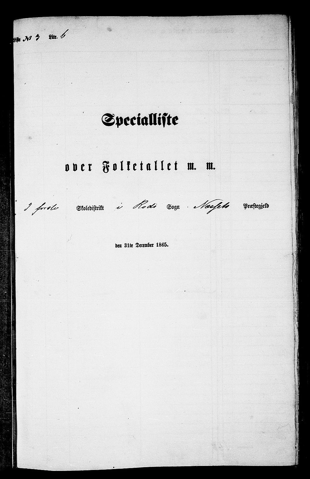 RA, Folketelling 1865 for 1543P Nesset prestegjeld, 1865, s. 65