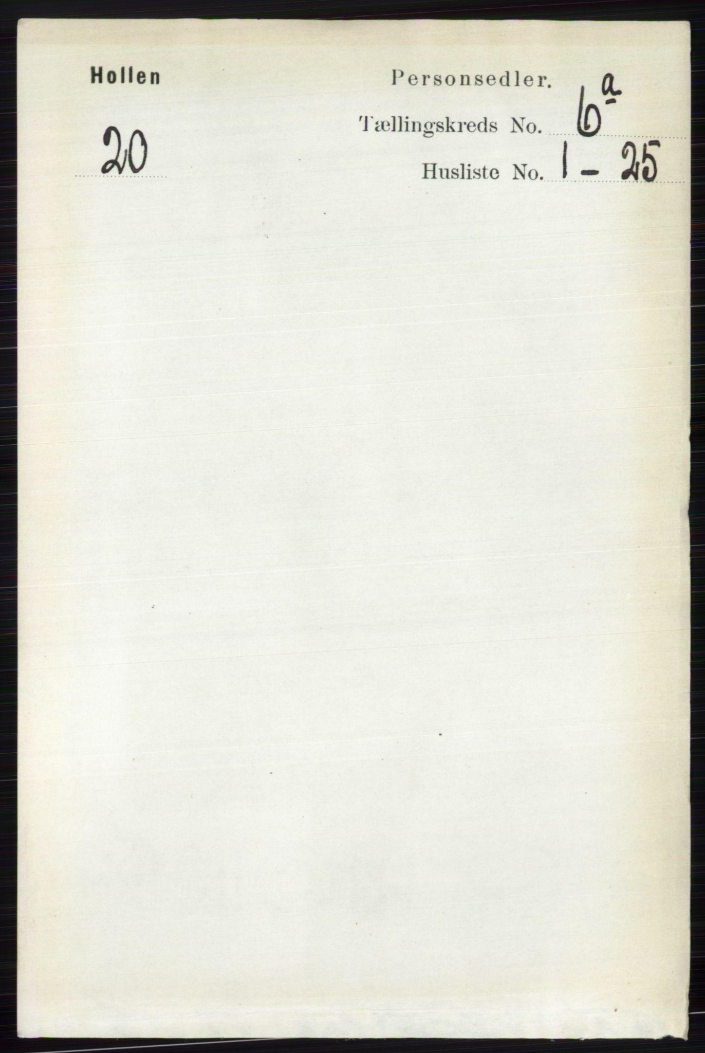 RA, Folketelling 1891 for 0819 Holla herred, 1891, s. 2865