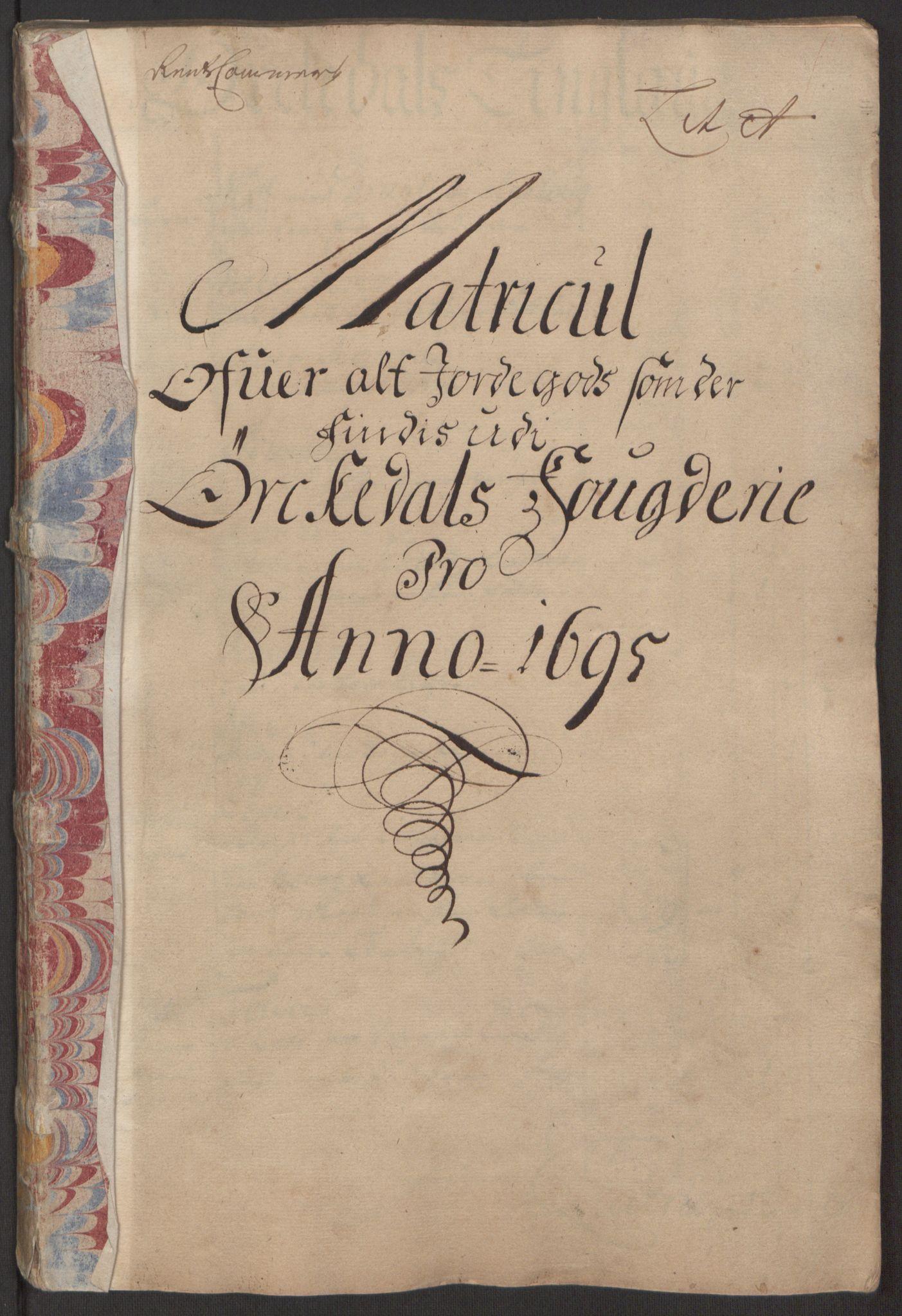 RA, Rentekammeret inntil 1814, Reviderte regnskaper, Fogderegnskap, R60/L3945: Fogderegnskap Orkdal og Gauldal, 1695, s. 38