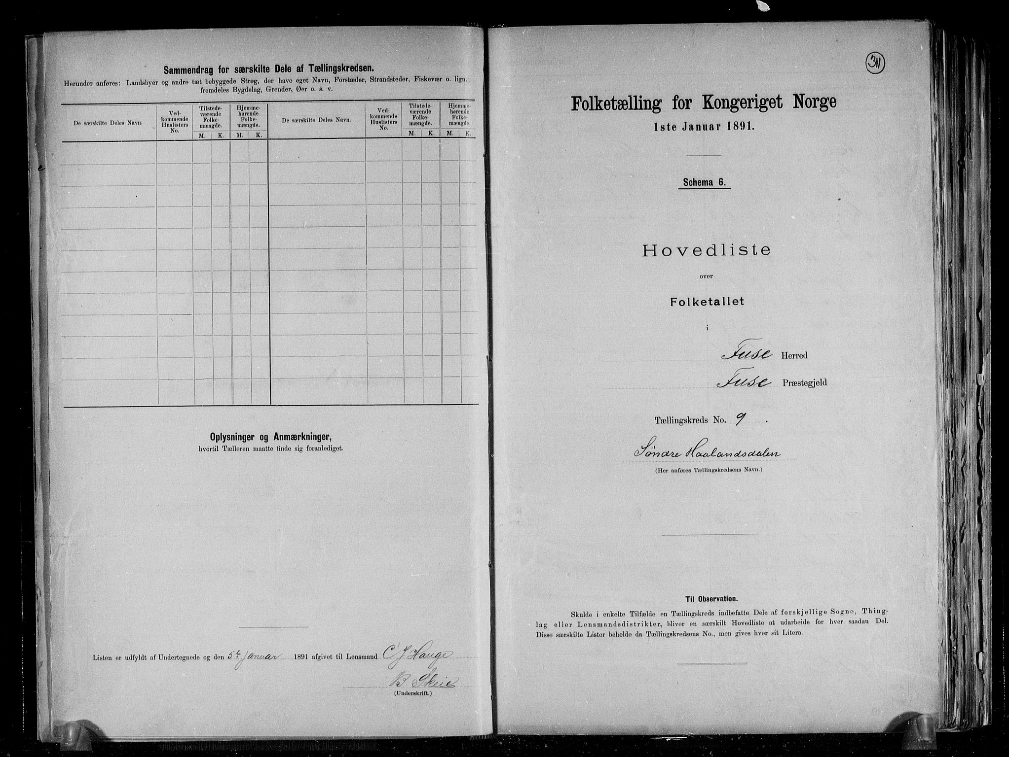 RA, Folketelling 1891 for 1241 Fusa herred, 1891, s. 20