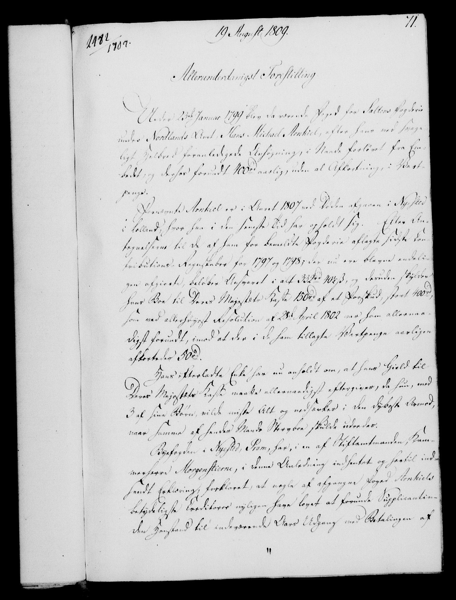 RA, Rentekammeret, Kammerkanselliet, G/Gf/Gfa/L0091: Norsk relasjons- og resolusjonsprotokoll (merket RK 52.91), 1809, s. 295