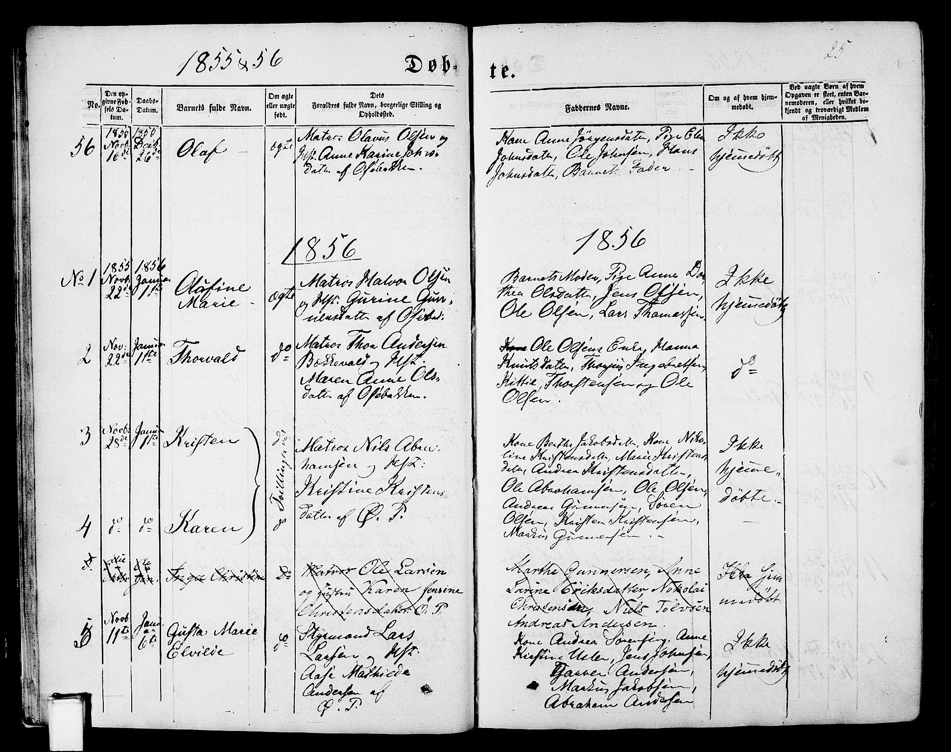 SAKO, Porsgrunn kirkebøker , G/Gb/L0004: Klokkerbok nr. II 4, 1853-1882, s. 25