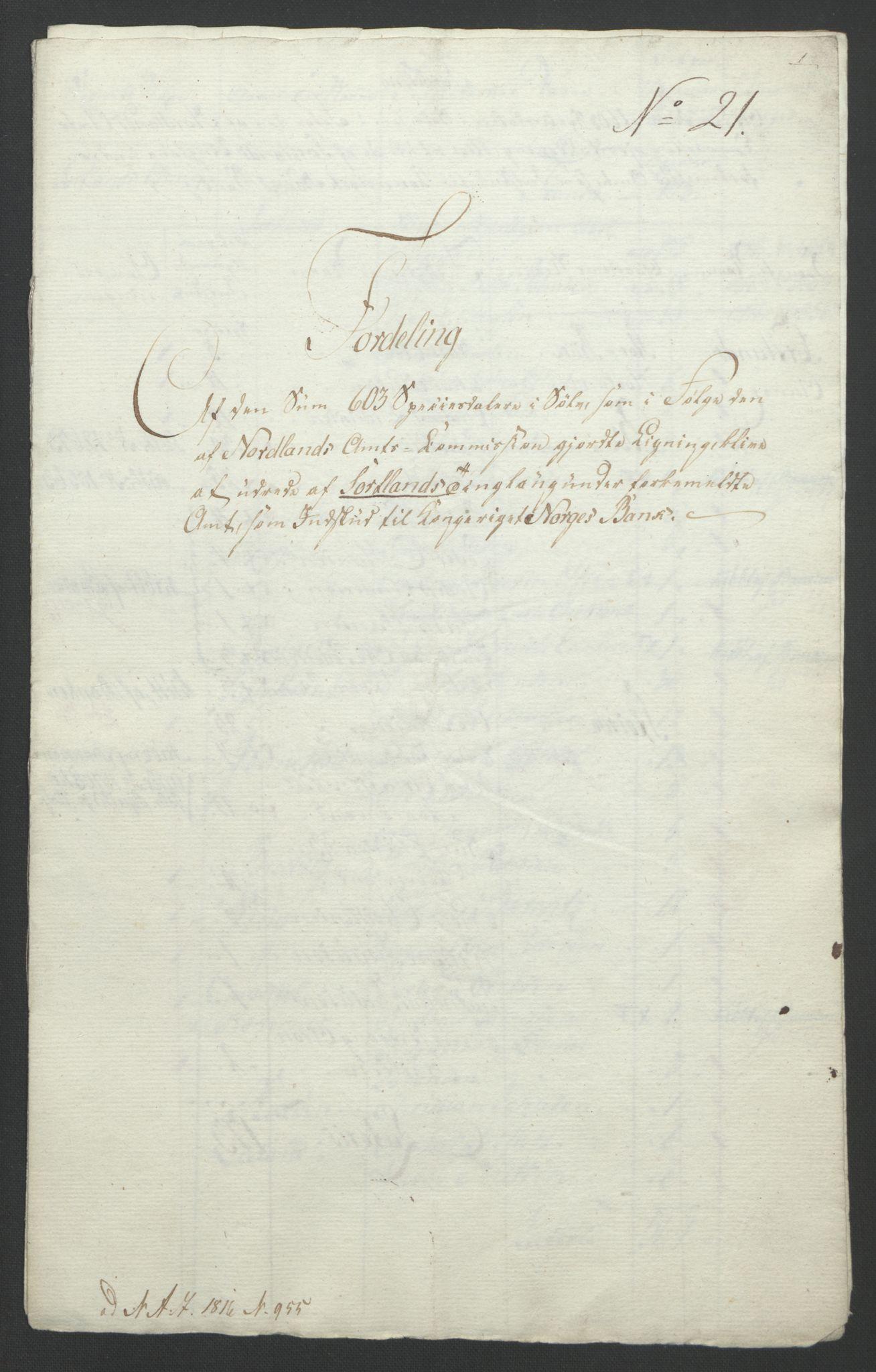 NOBA, Norges Bank/Sølvskatten 1816*, 1816-1821, s. 58