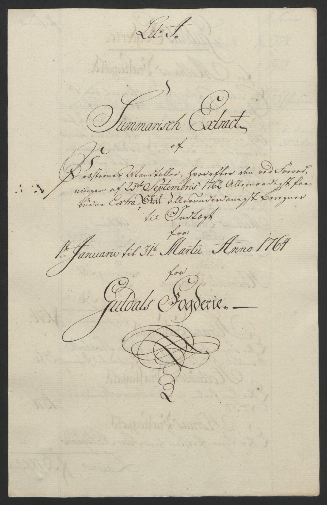 RA, Rentekammeret inntil 1814, Reviderte regnskaper, Fogderegnskap, R60/L4094: Ekstraskatten Orkdal og Gauldal, 1762-1765, s. 168
