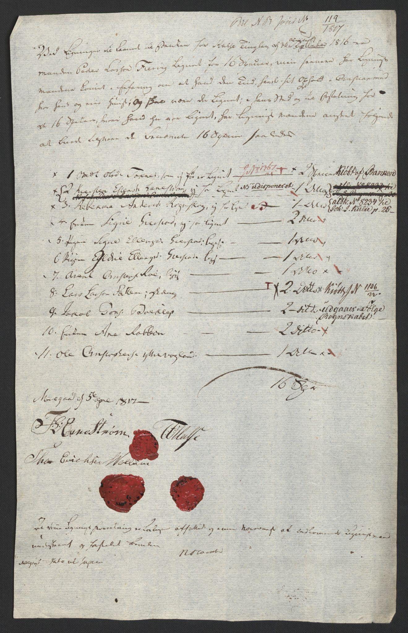 NOBA, Norges Bank/Sølvskatten 1816*, 1816-1819, s. 48