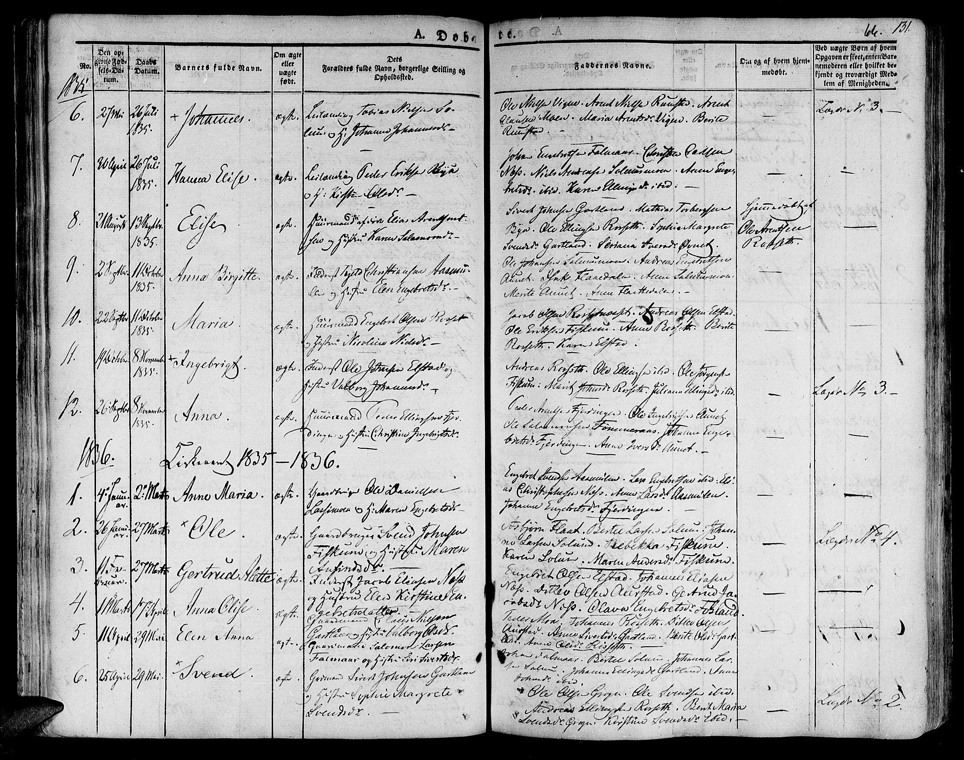 SAT, Ministerialprotokoller, klokkerbøker og fødselsregistre - Nord-Trøndelag, 758/L0510: Ministerialbok nr. 758A01 /3, 1821-1841, s. 66