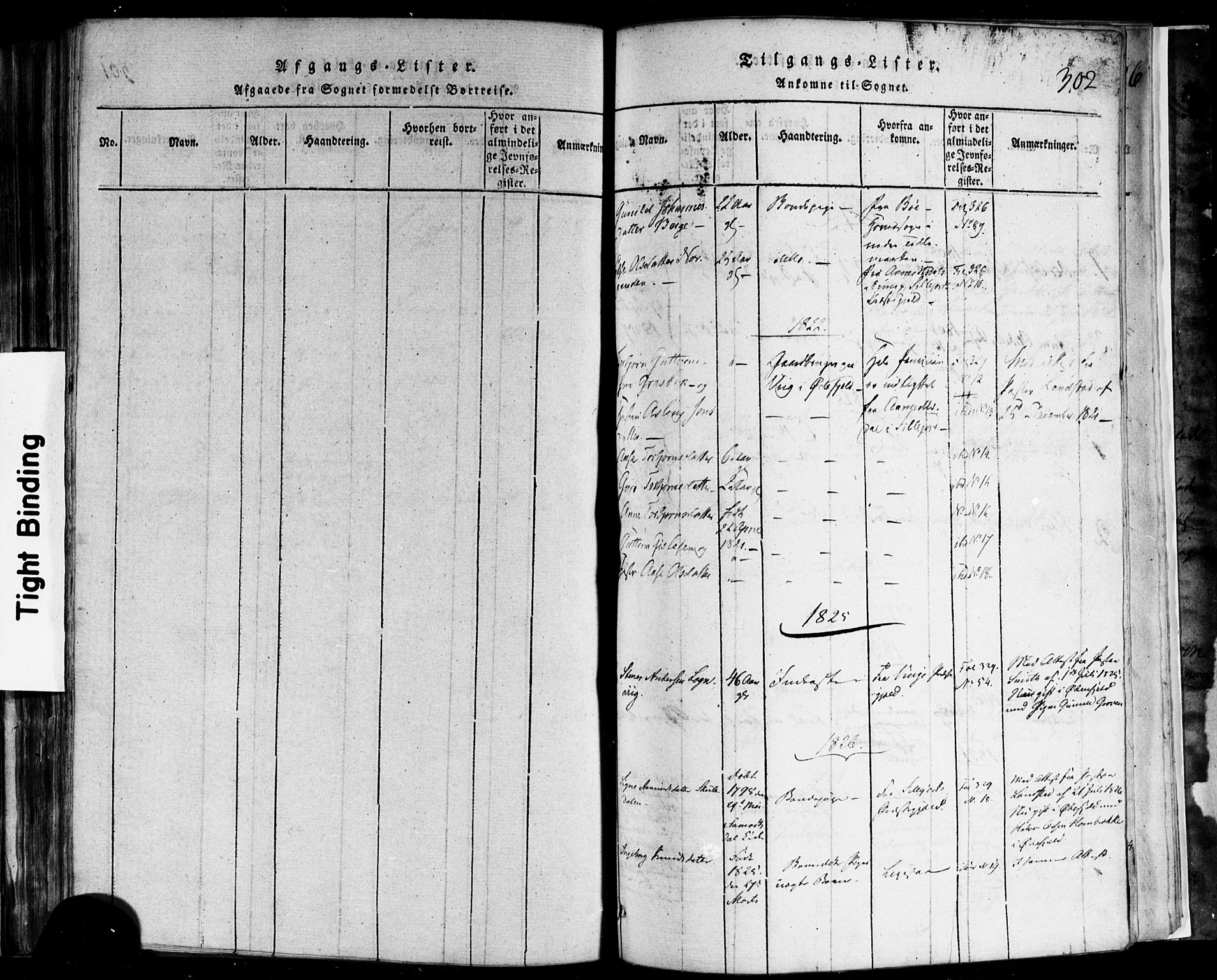 SAKO, Rauland kirkebøker, F/Fa/L0002: Ministerialbok nr. 2, 1815-1860, s. 302