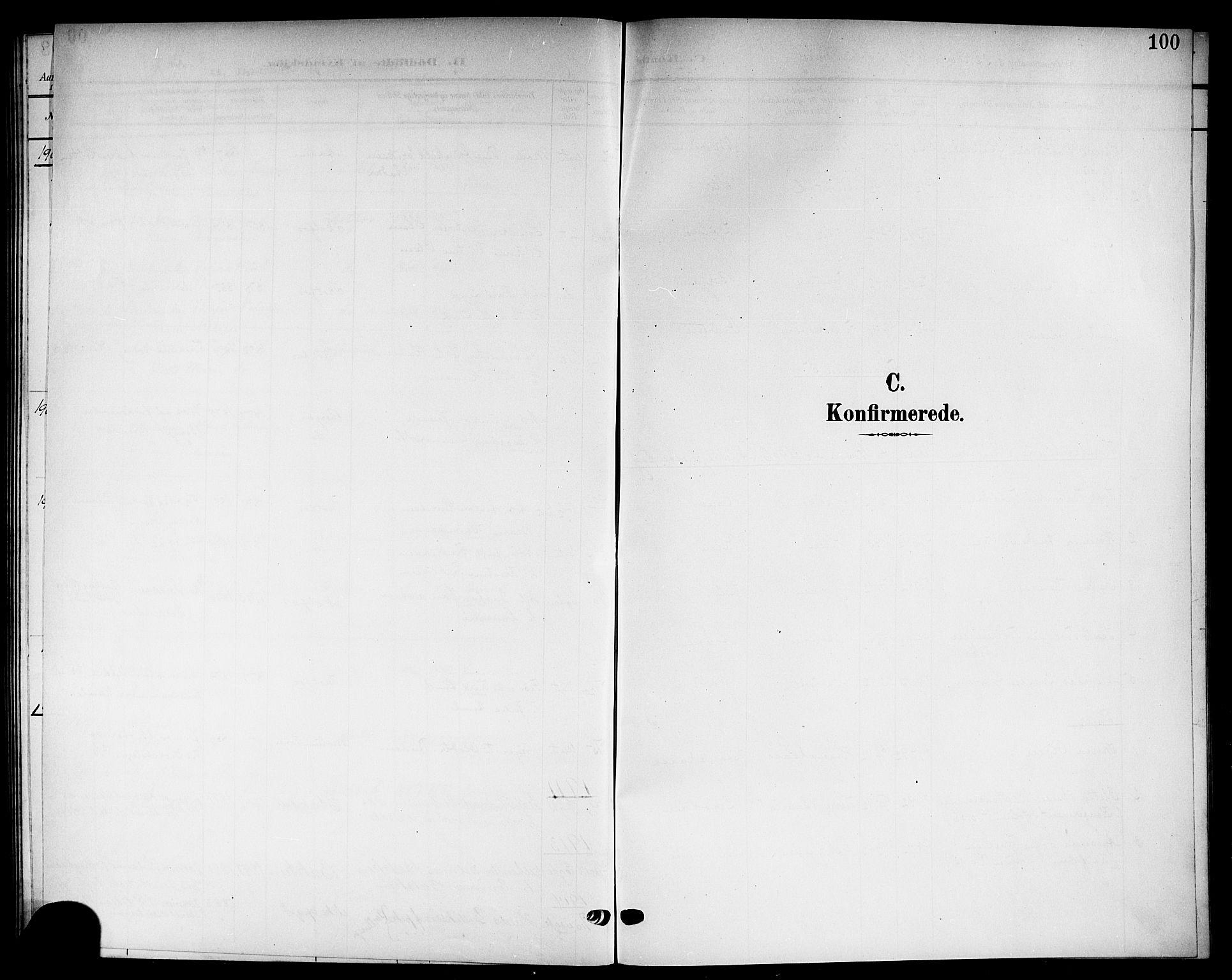 SAKO, Solum kirkebøker, G/Gb/L0005: Klokkerbok nr. II 5, 1905-1914, s. 100