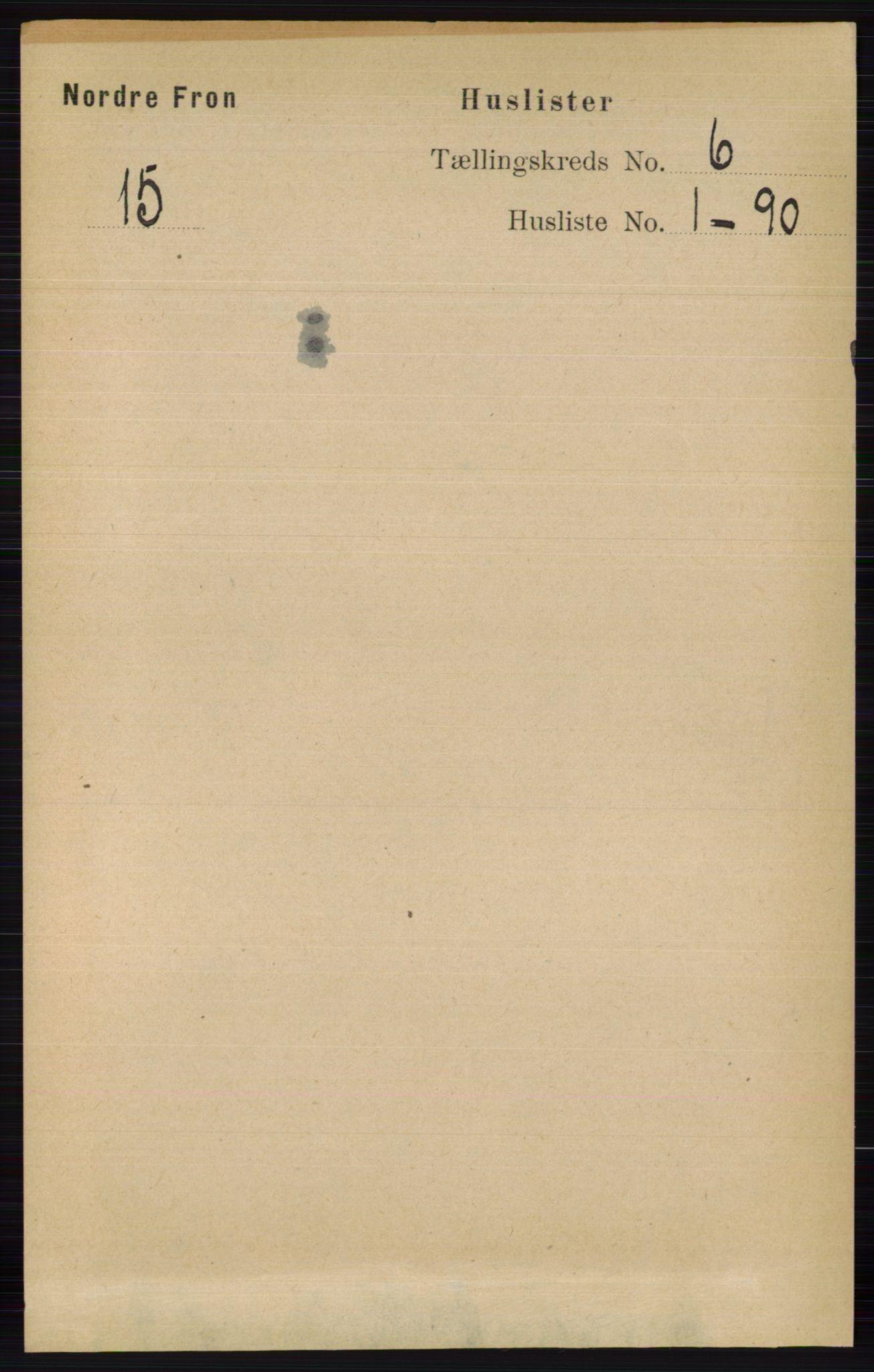 RA, Folketelling 1891 for 0518 Nord-Fron herred, 1891, s. 2165