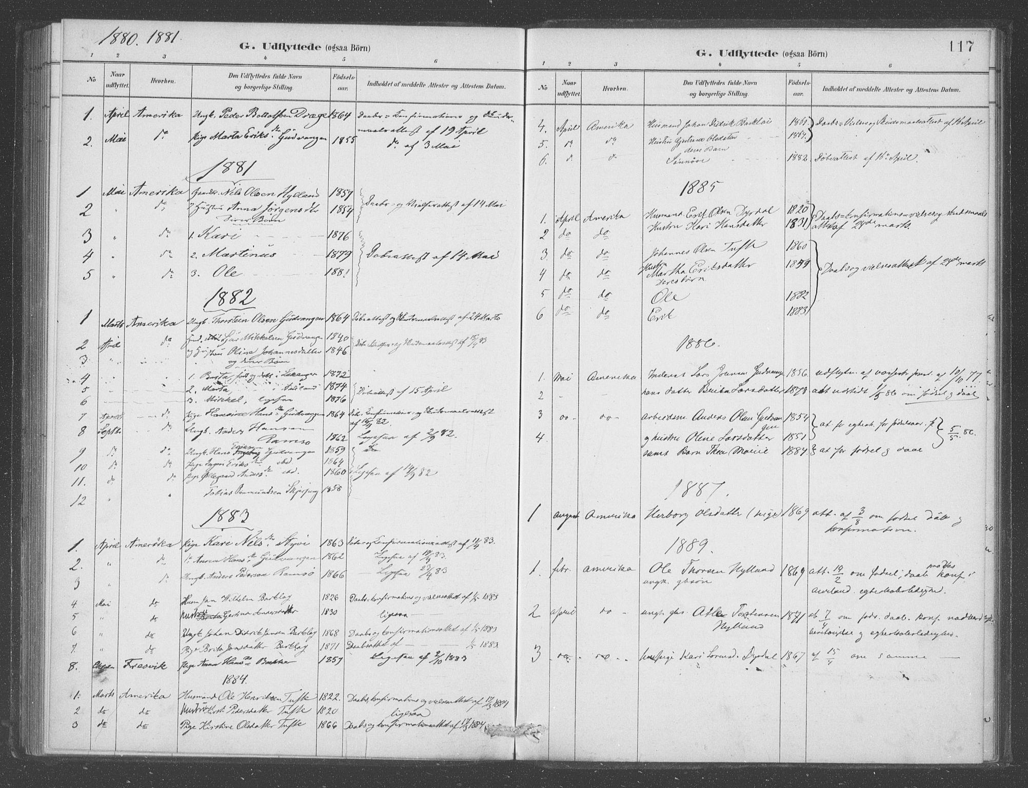 SAB, Aurland sokneprestembete, H/Ha/Had/L0001: Ministerialbok nr. D  1, 1880-1903, s. 117