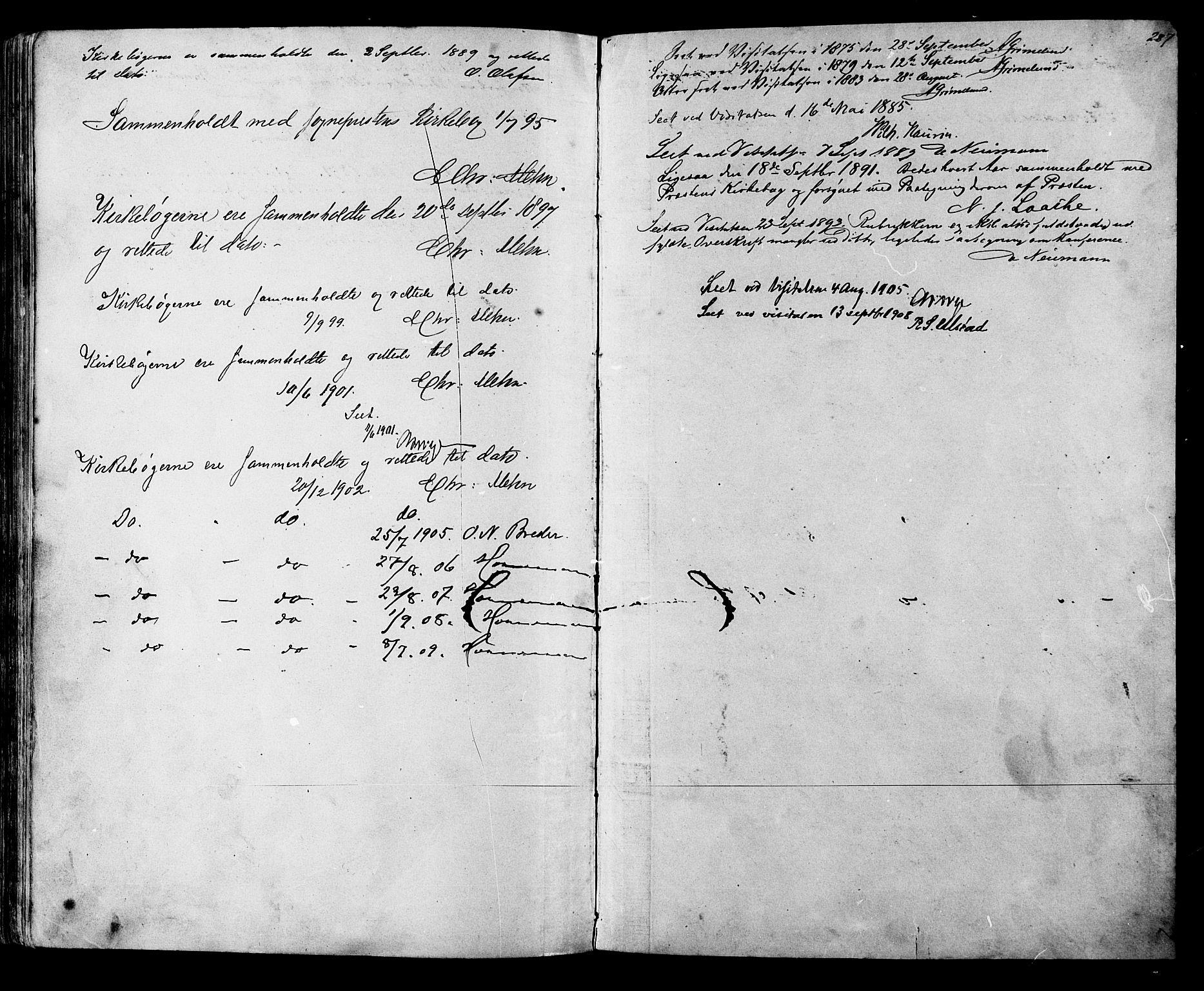 SAT, Ministerialprotokoller, klokkerbøker og fødselsregistre - Sør-Trøndelag, 612/L0387: Klokkerbok nr. 612C03, 1874-1908, s. 257