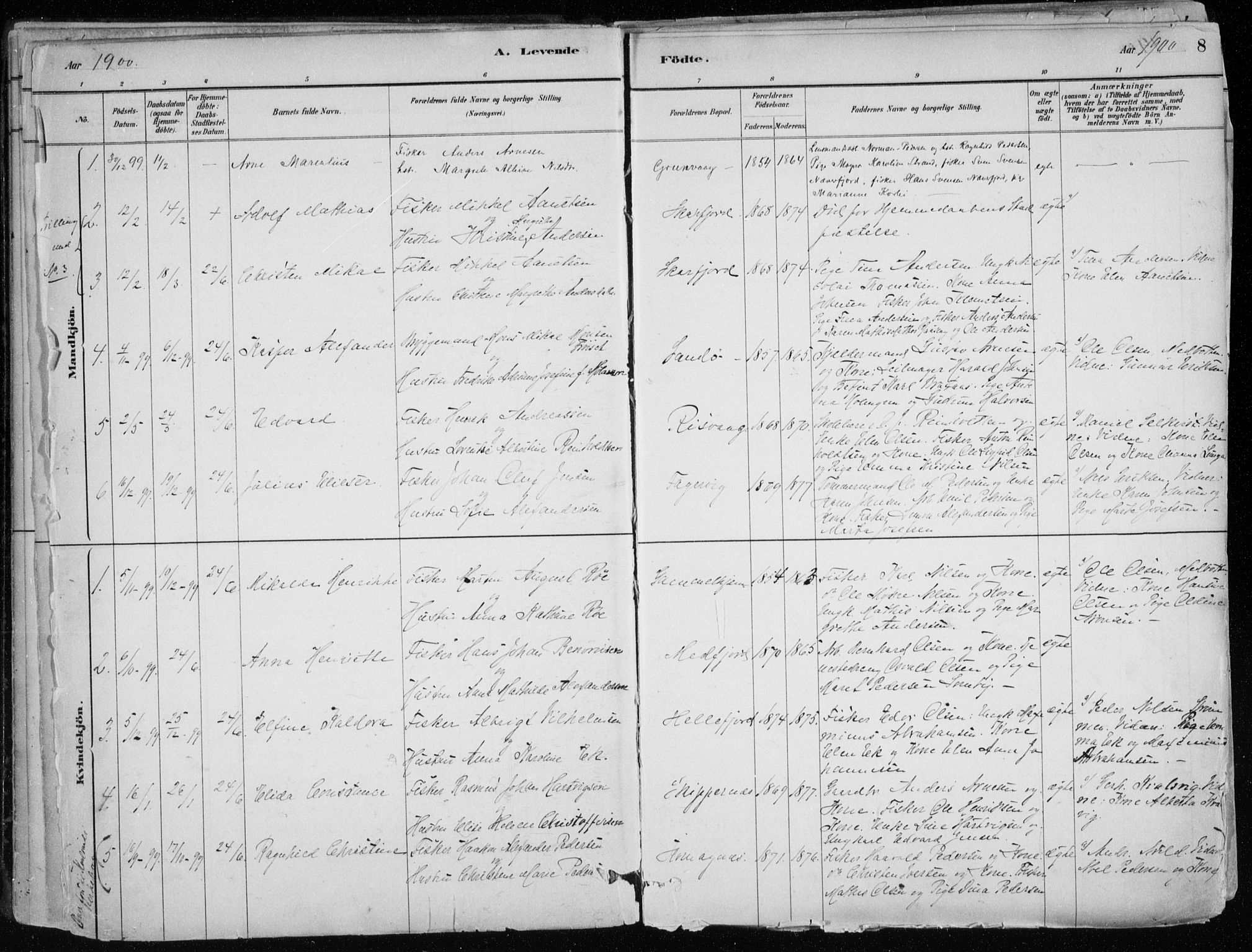 SATØ, Hammerfest sokneprestkontor, H/Ha/L0013.kirke: Ministerialbok nr. 13, 1898-1917, s. 8