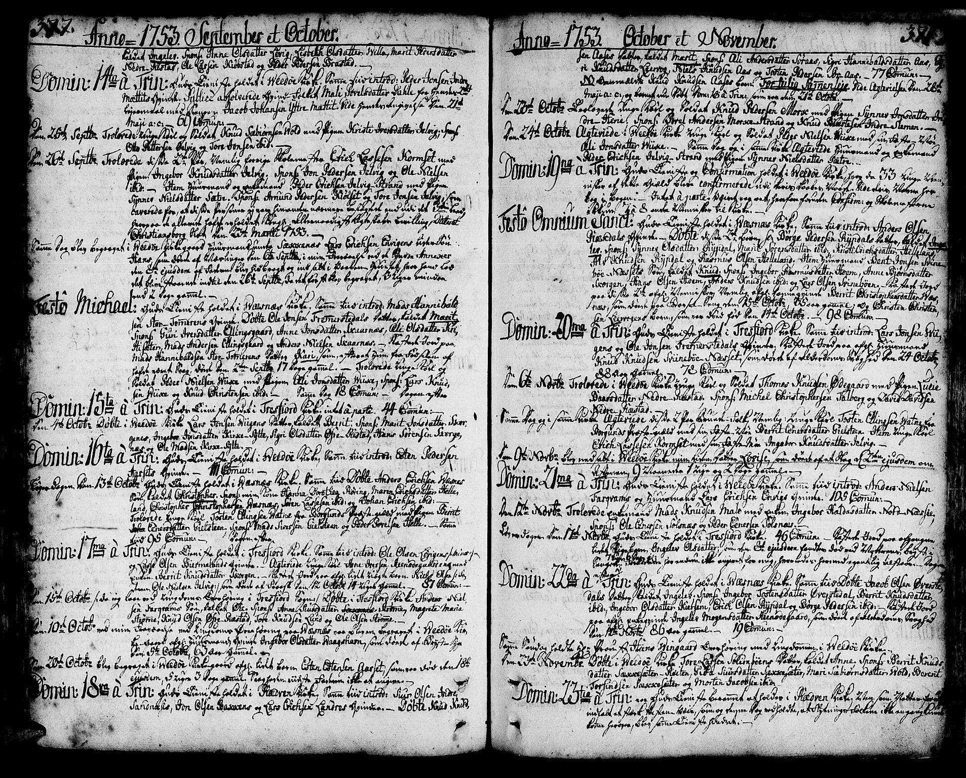 SAT, Ministerialprotokoller, klokkerbøker og fødselsregistre - Møre og Romsdal, 547/L0599: Ministerialbok nr. 547A01, 1721-1764, s. 377-378