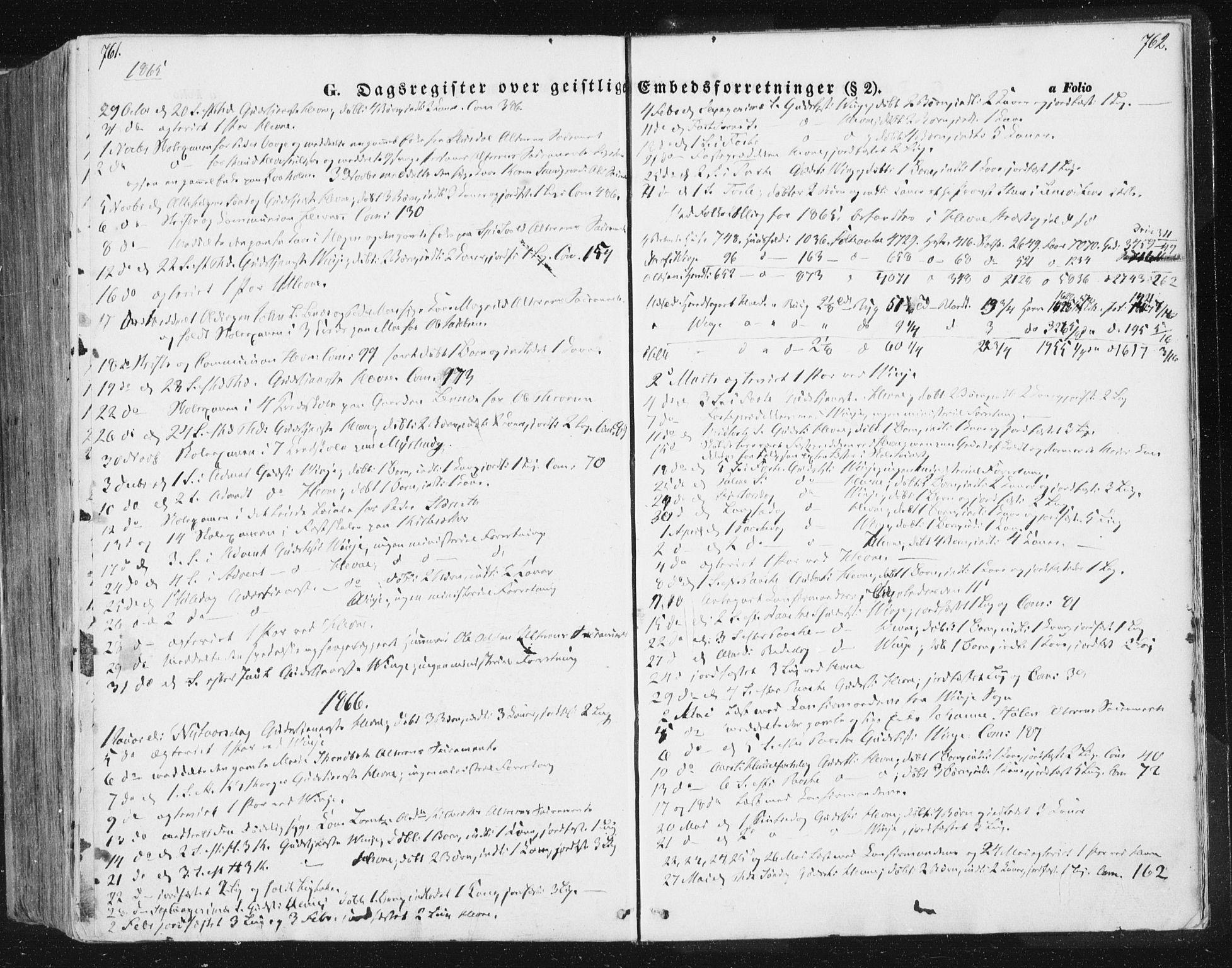 SAT, Ministerialprotokoller, klokkerbøker og fødselsregistre - Sør-Trøndelag, 630/L0494: Ministerialbok nr. 630A07, 1852-1868, s. 761-762