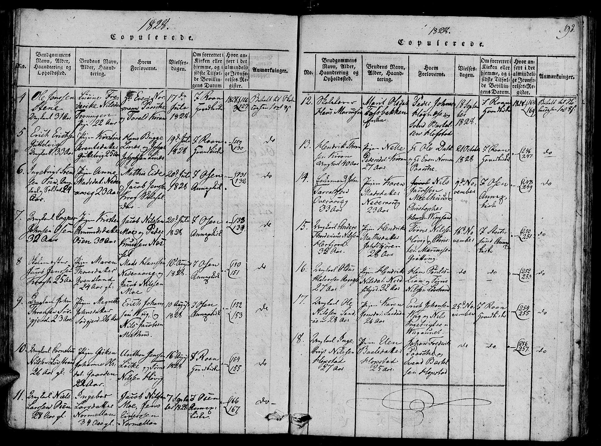 SAT, Ministerialprotokoller, klokkerbøker og fødselsregistre - Sør-Trøndelag, 657/L0702: Ministerialbok nr. 657A03, 1818-1831, s. 192