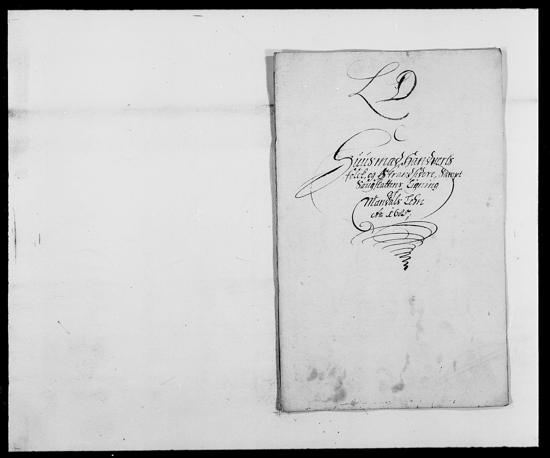 RA, Rentekammeret inntil 1814, Reviderte regnskaper, Fogderegnskap, R42/L2542: Mandal fogderi, 1685-1687, s. 71