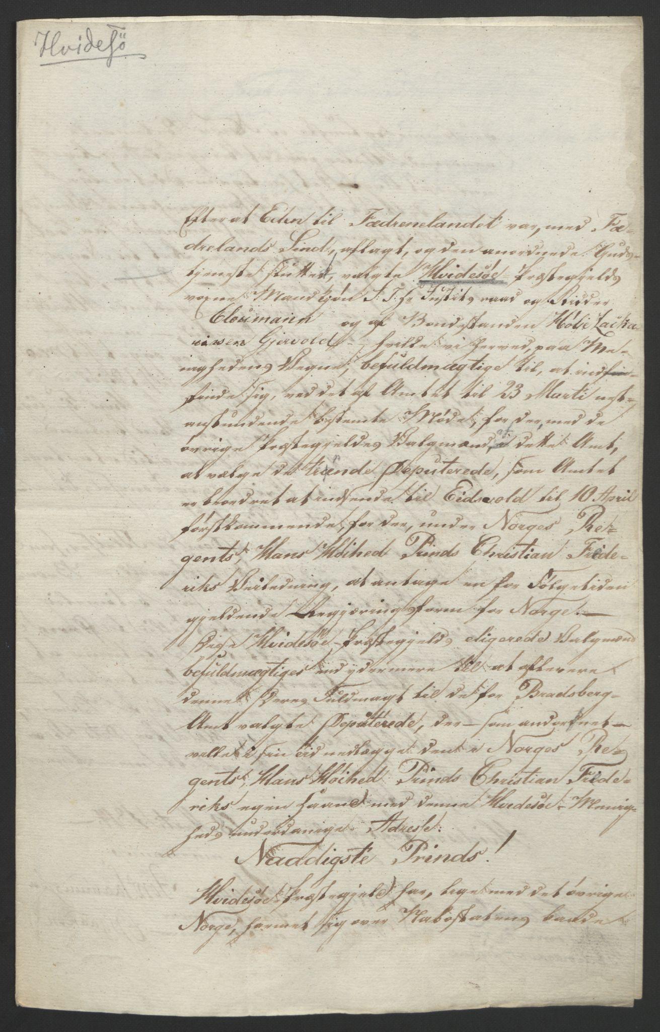 RA, Statsrådssekretariatet, D/Db/L0008: Fullmakter for Eidsvollsrepresentantene i 1814. , 1814, s. 55