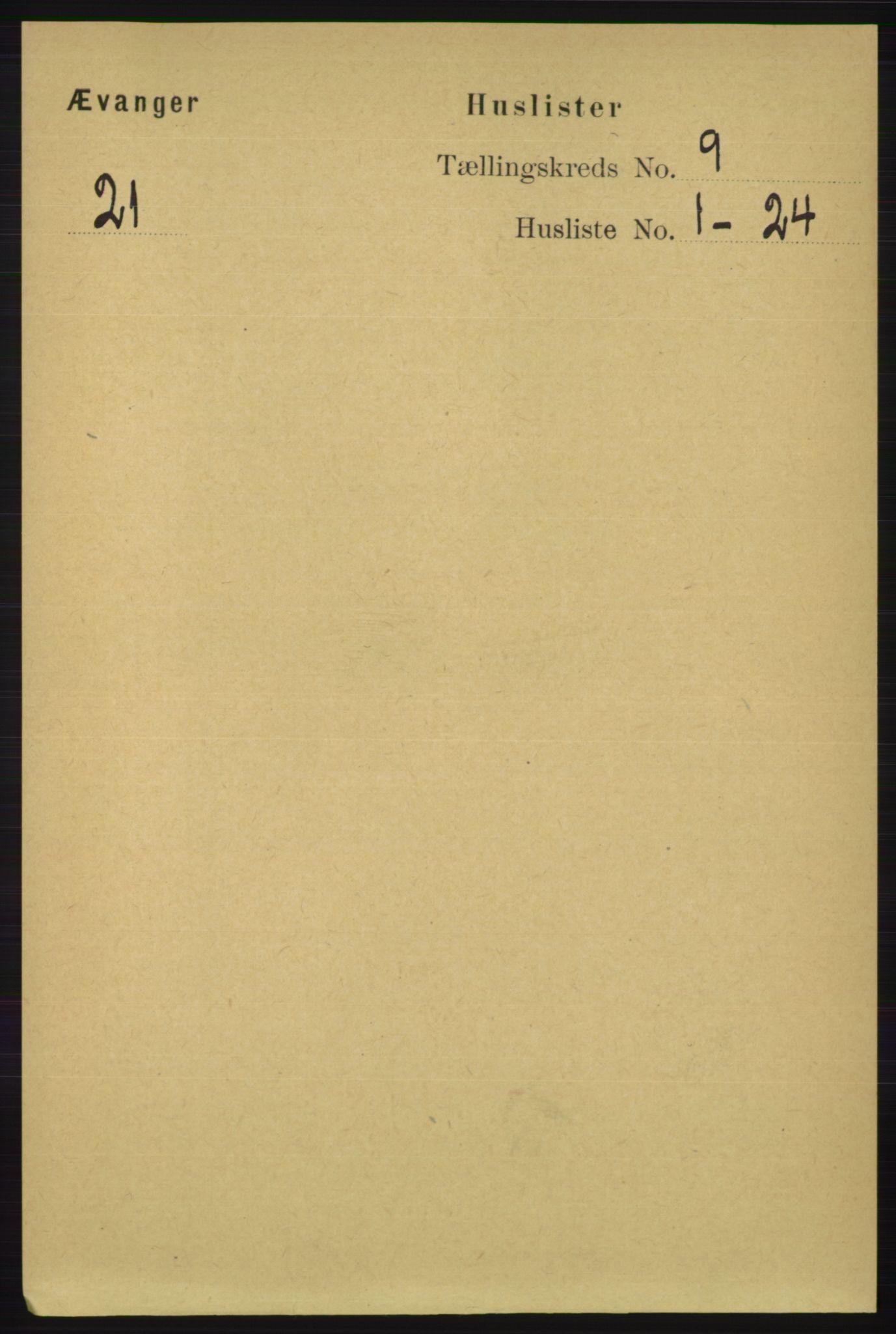 RA, Folketelling 1891 for 1237 Evanger herred, 1891, s. 2323