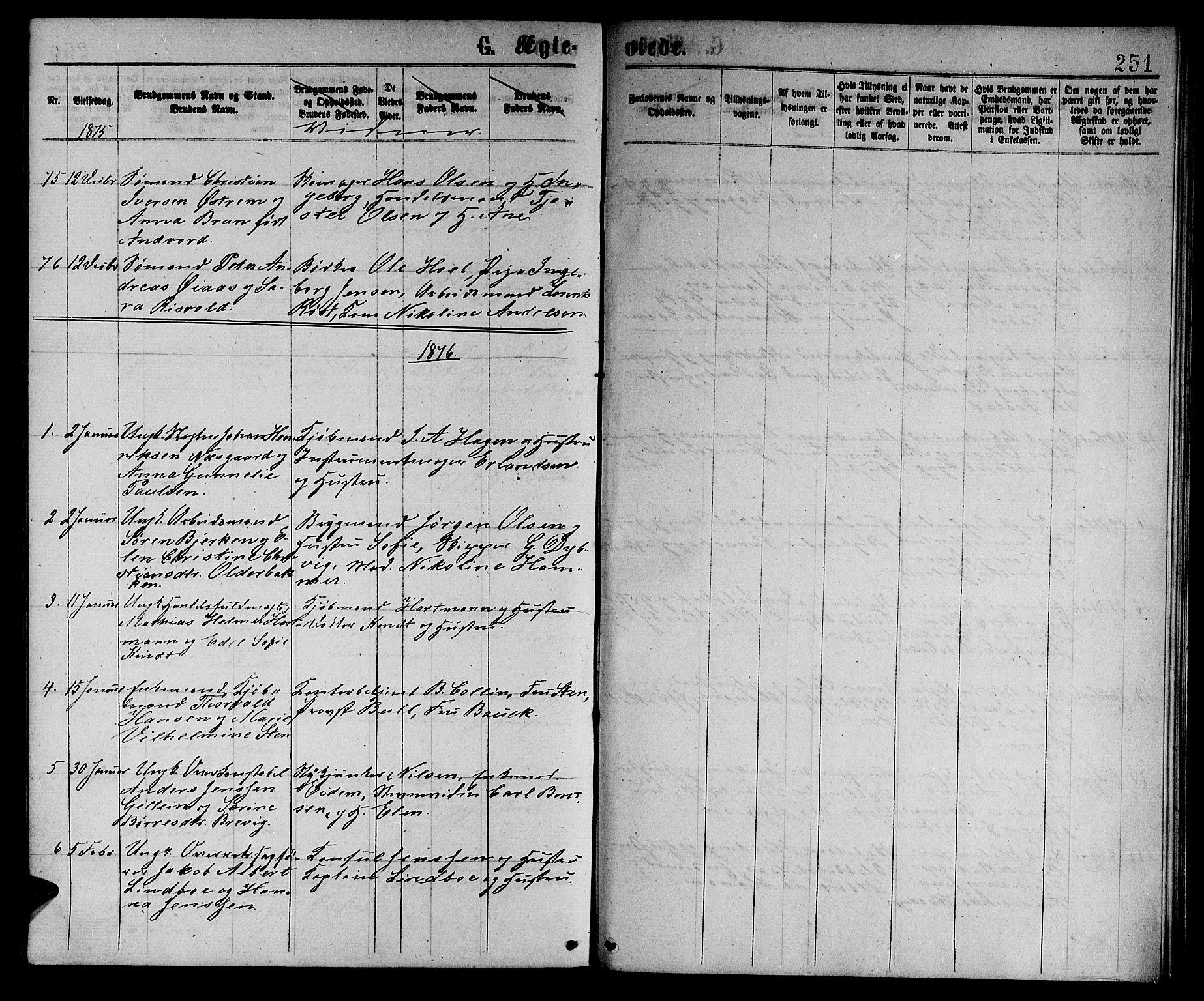 SAT, Ministerialprotokoller, klokkerbøker og fødselsregistre - Sør-Trøndelag, 601/L0088: Klokkerbok nr. 601C06, 1870-1878, s. 251a
