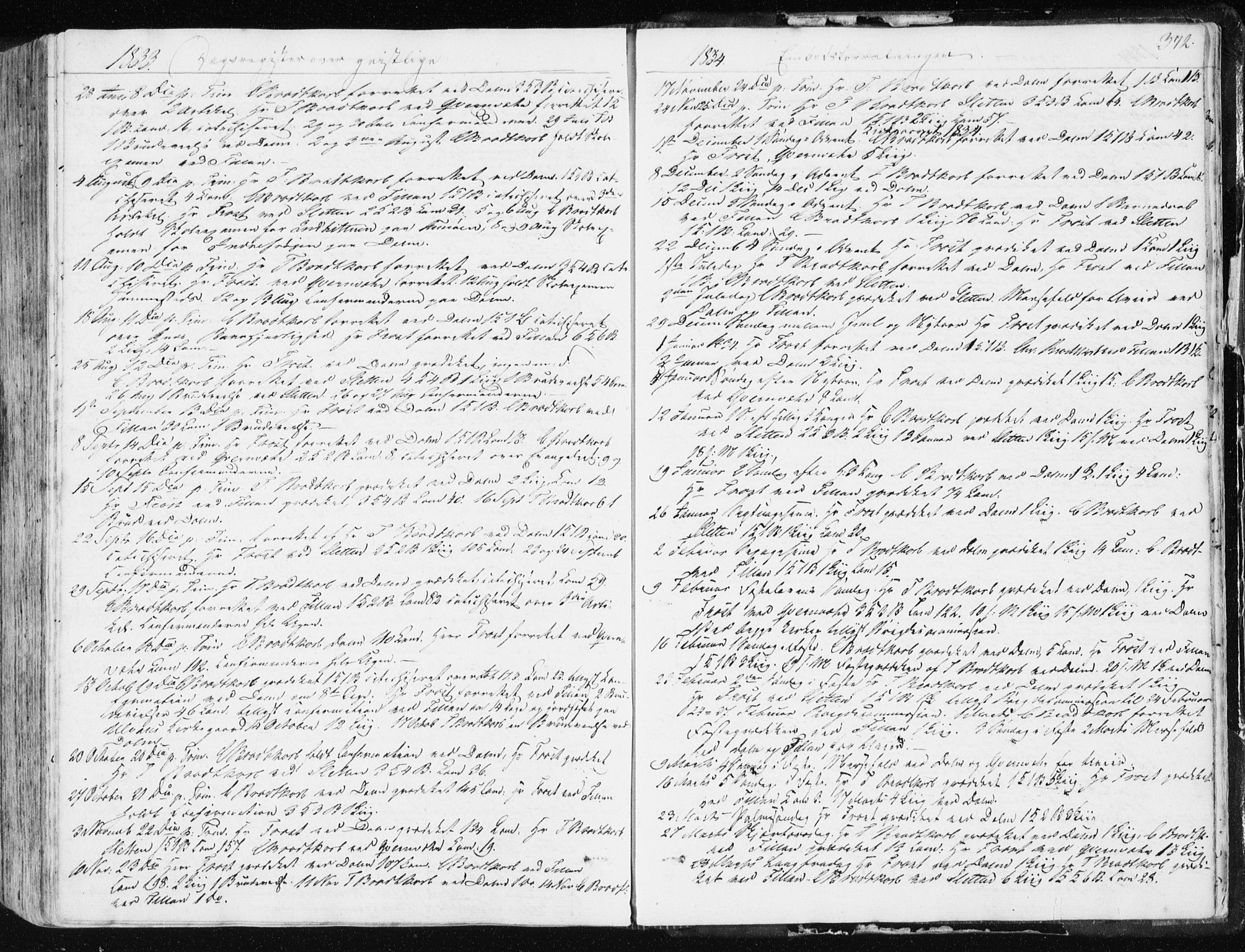 SAT, Ministerialprotokoller, klokkerbøker og fødselsregistre - Sør-Trøndelag, 634/L0528: Ministerialbok nr. 634A04, 1827-1842, s. 372