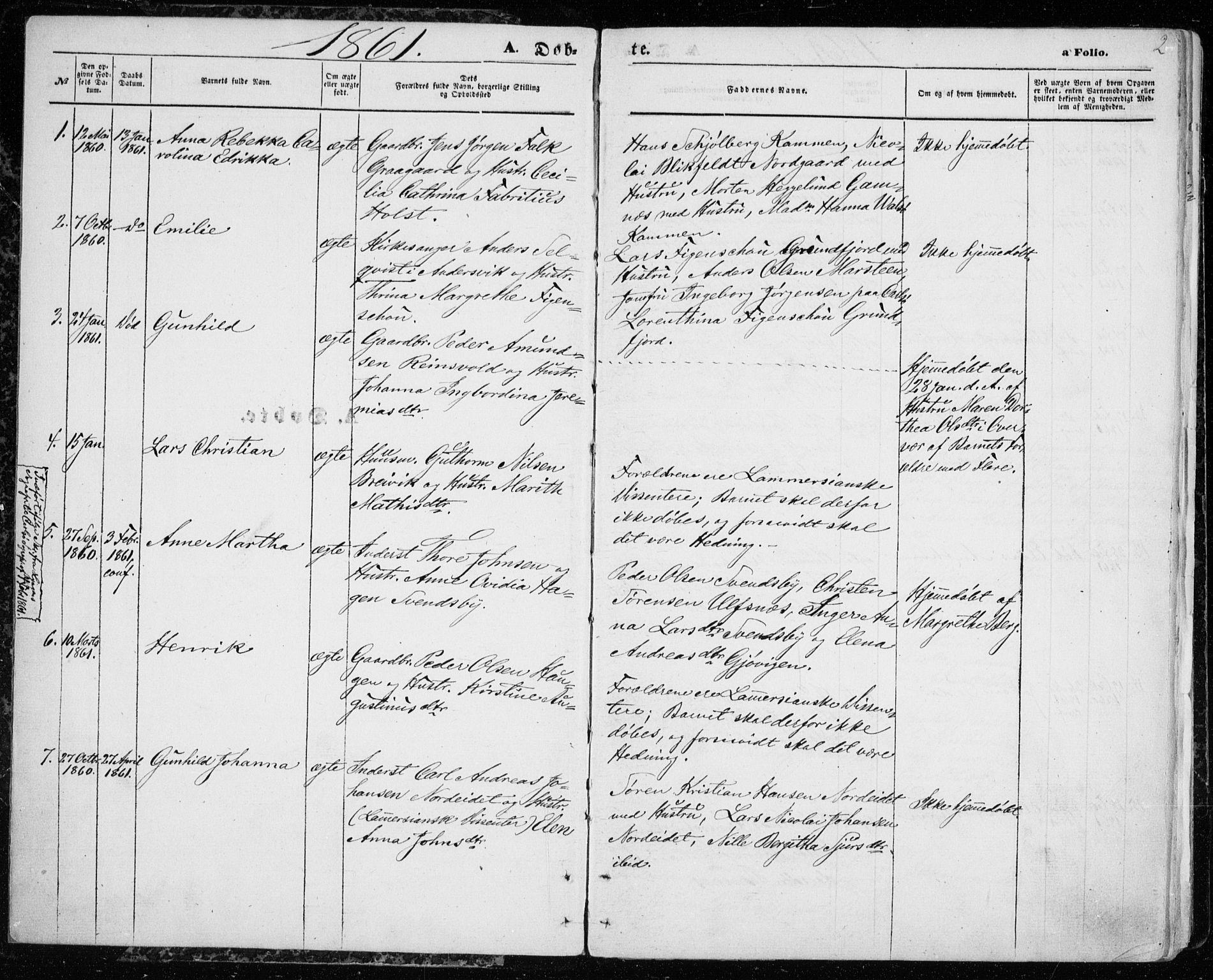 SATØ, Karlsøy sokneprestembete, H/Ha/Haa/L0004kirke: Ministerialbok nr. 4, 1861-1871, s. 2