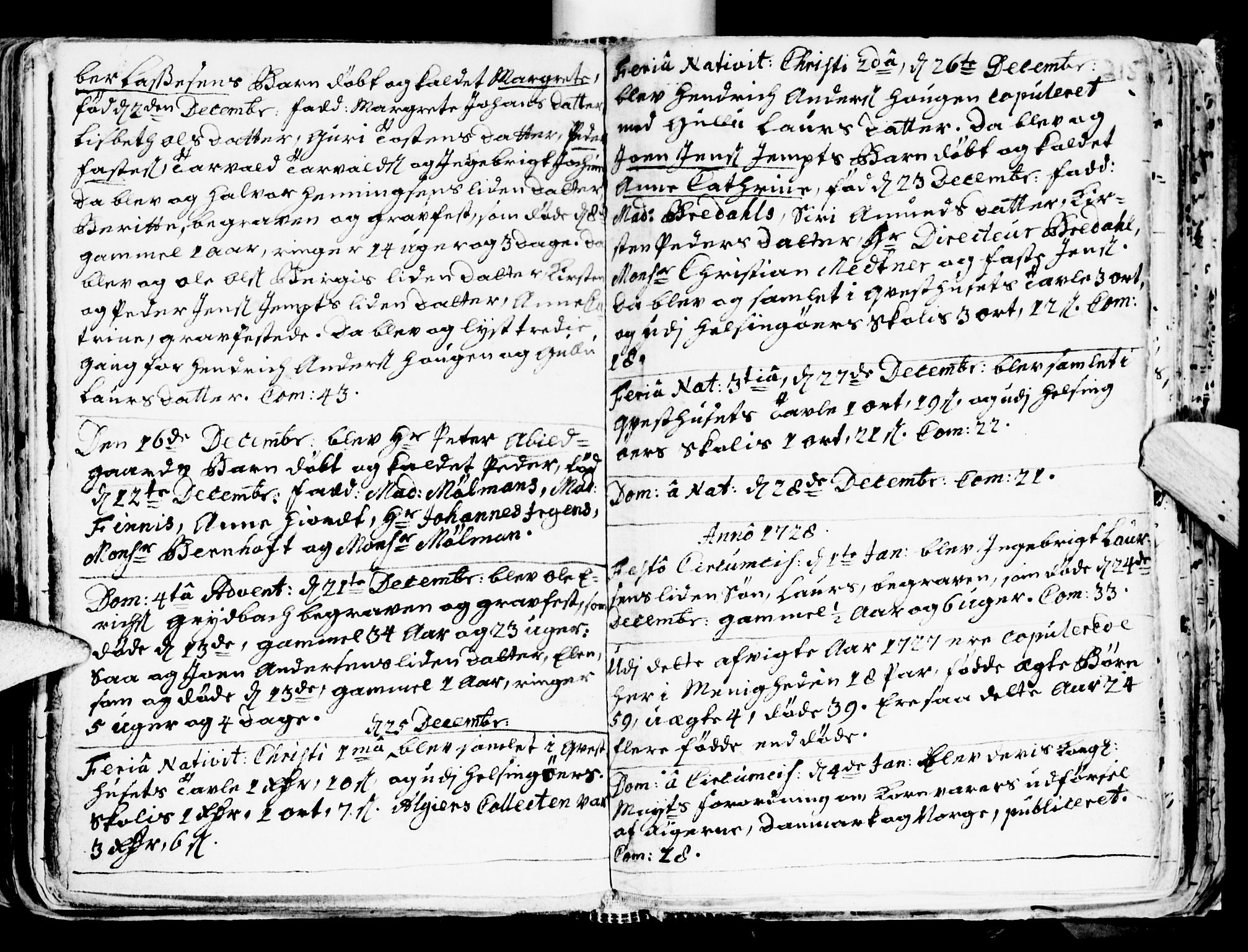 SAT, Ministerialprotokoller, klokkerbøker og fødselsregistre - Sør-Trøndelag, 681/L0924: Ministerialbok nr. 681A02, 1720-1731, s. 214-215