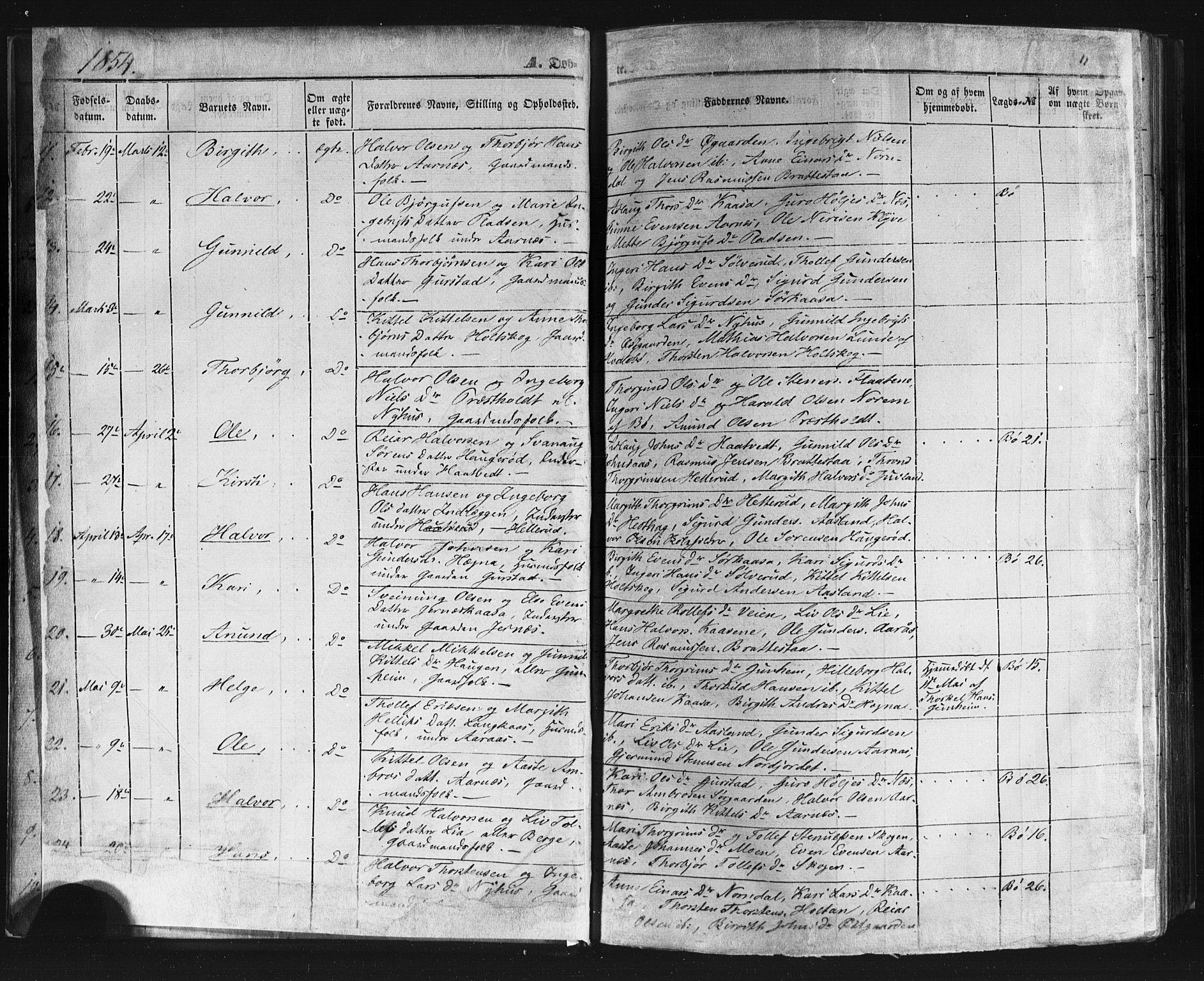 SAKO, Sauherad kirkebøker, F/Fb/L0001: Ministerialbok nr. II 1, 1851-1877, s. 11