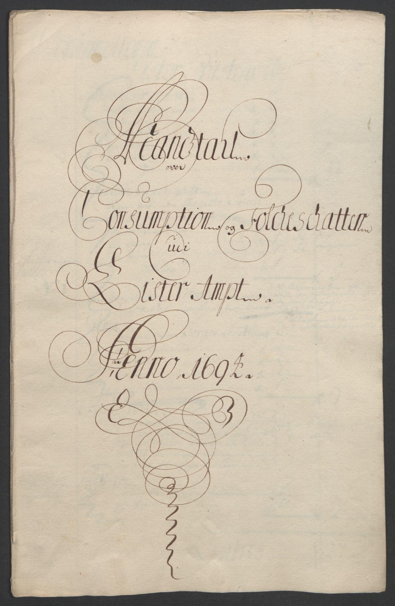 RA, Rentekammeret inntil 1814, Reviderte regnskaper, Fogderegnskap, R43/L2545: Fogderegnskap Lista og Mandal, 1694-1695, s. 64