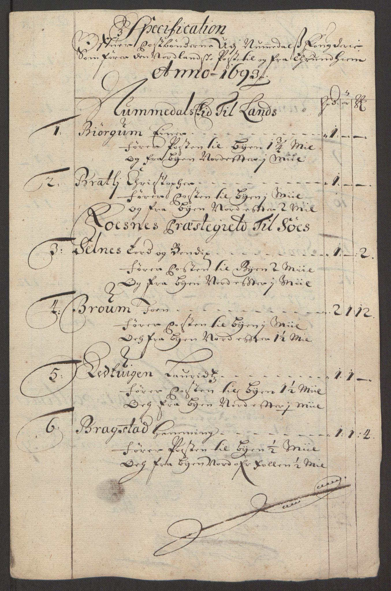 RA, Rentekammeret inntil 1814, Reviderte regnskaper, Fogderegnskap, R64/L4424: Fogderegnskap Namdal, 1692-1695, s. 316