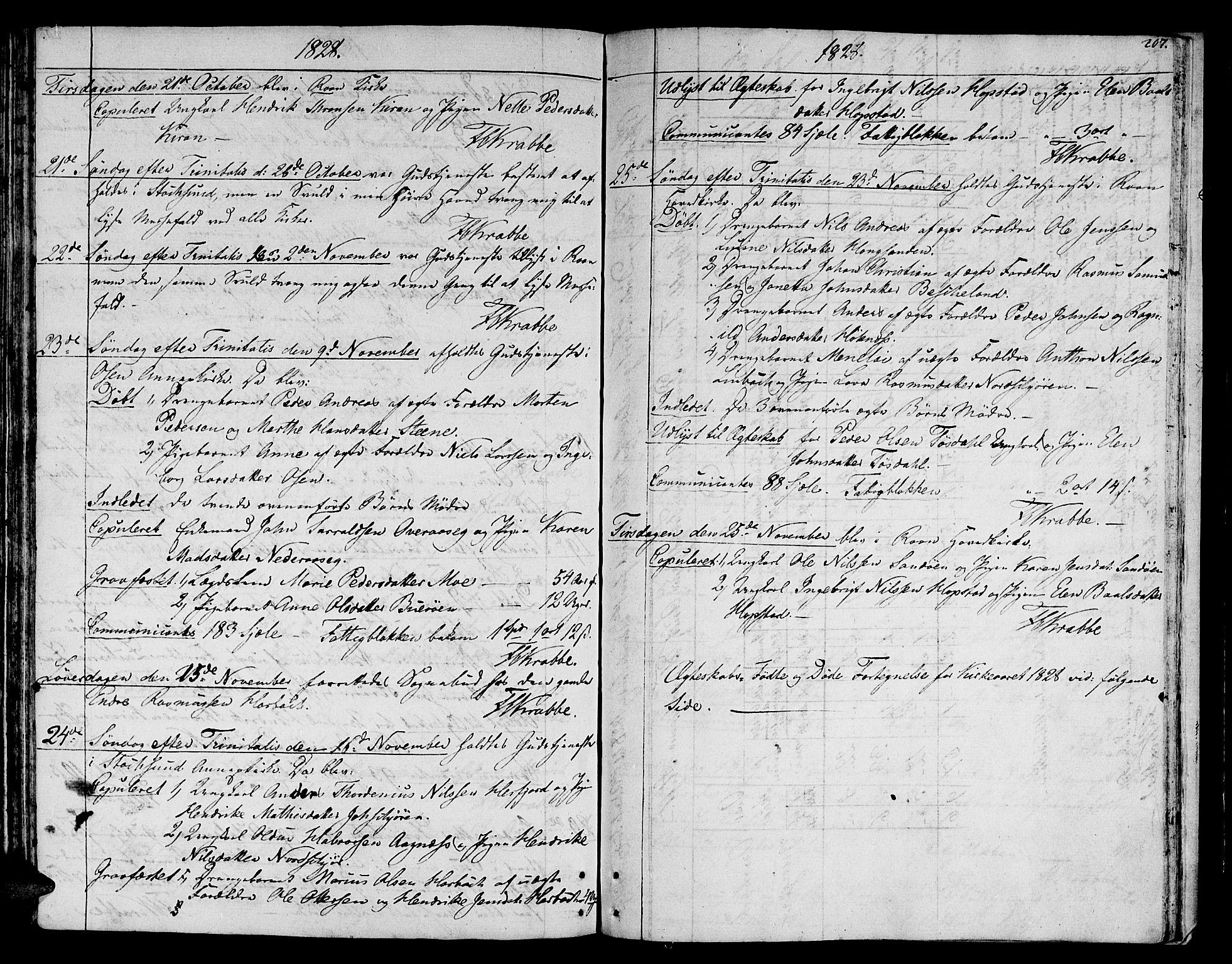 SAT, Ministerialprotokoller, klokkerbøker og fødselsregistre - Sør-Trøndelag, 657/L0701: Ministerialbok nr. 657A02, 1802-1831, s. 207