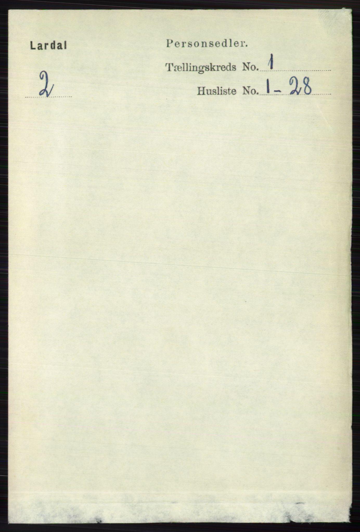 RA, Folketelling 1891 for 0728 Lardal herred, 1891, s. 114
