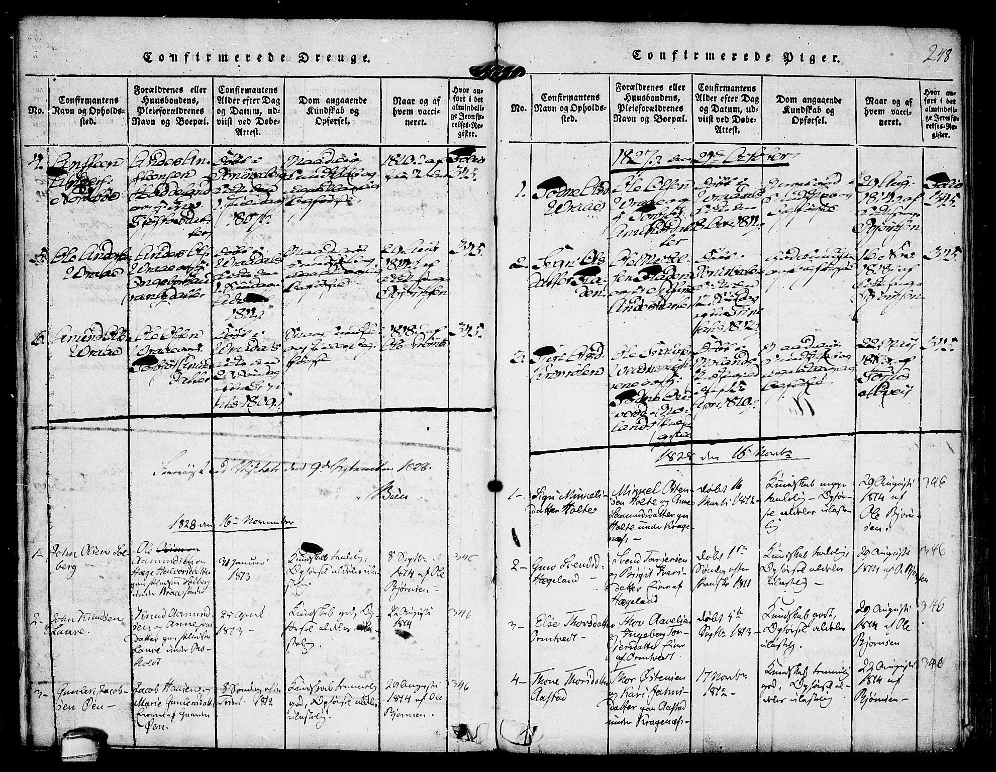 SAKO, Kviteseid kirkebøker, F/Fc/L0001: Ministerialbok nr. III 1, 1815-1836, s. 248