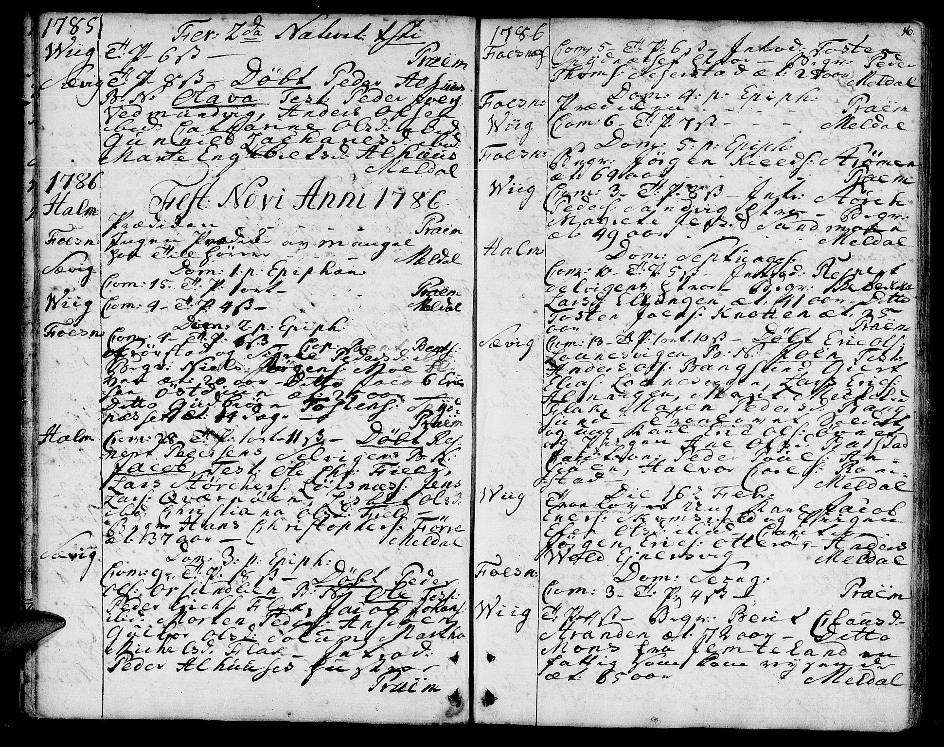 SAT, Ministerialprotokoller, klokkerbøker og fødselsregistre - Nord-Trøndelag, 773/L0608: Ministerialbok nr. 773A02, 1784-1816, s. 16