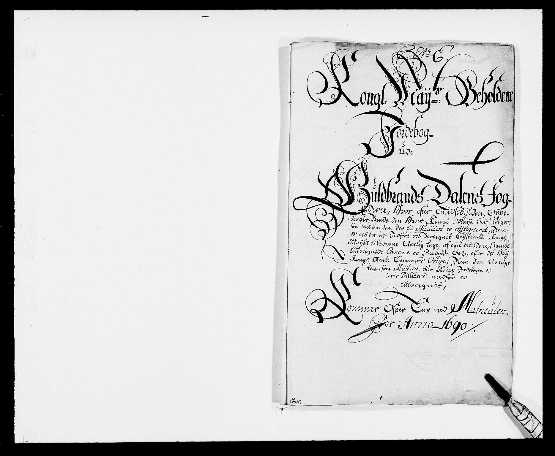 RA, Rentekammeret inntil 1814, Reviderte regnskaper, Fogderegnskap, R17/L1165: Fogderegnskap Gudbrandsdal, 1690-1692, s. 93