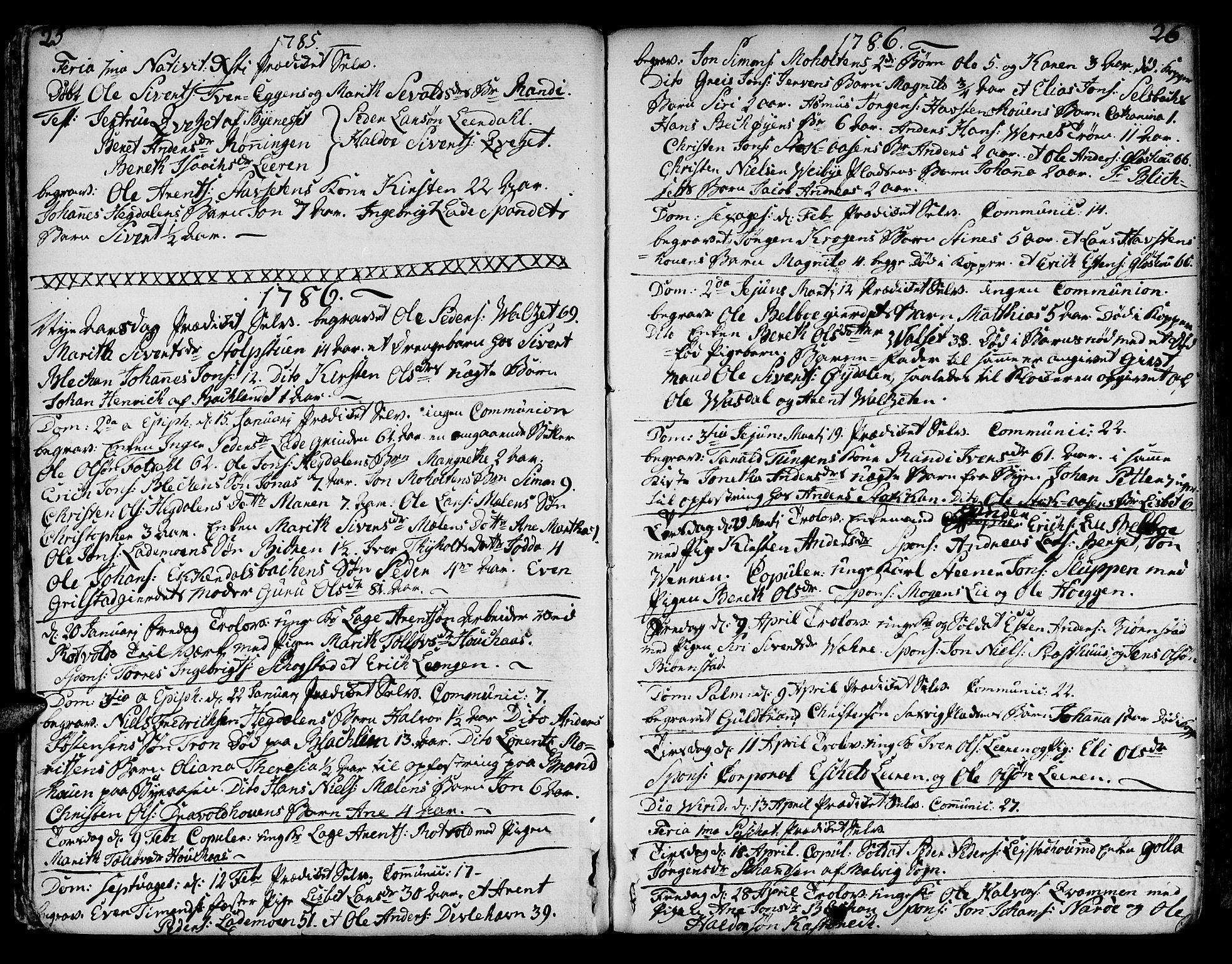 SAT, Ministerialprotokoller, klokkerbøker og fødselsregistre - Sør-Trøndelag, 606/L0280: Ministerialbok nr. 606A02 /1, 1781-1817, s. 25-26
