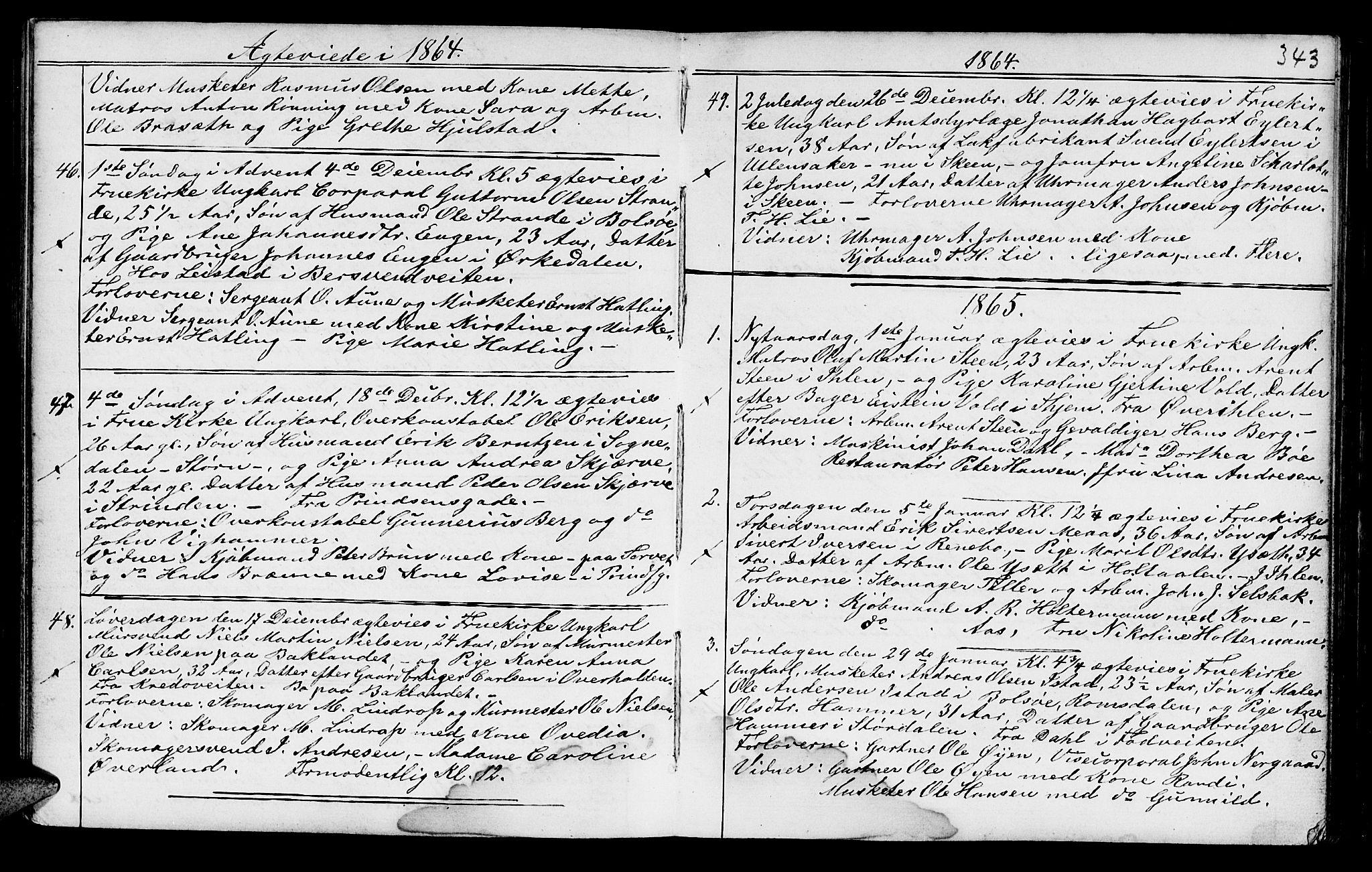SAT, Ministerialprotokoller, klokkerbøker og fødselsregistre - Sør-Trøndelag, 602/L0140: Klokkerbok nr. 602C08, 1864-1872, s. 342-343