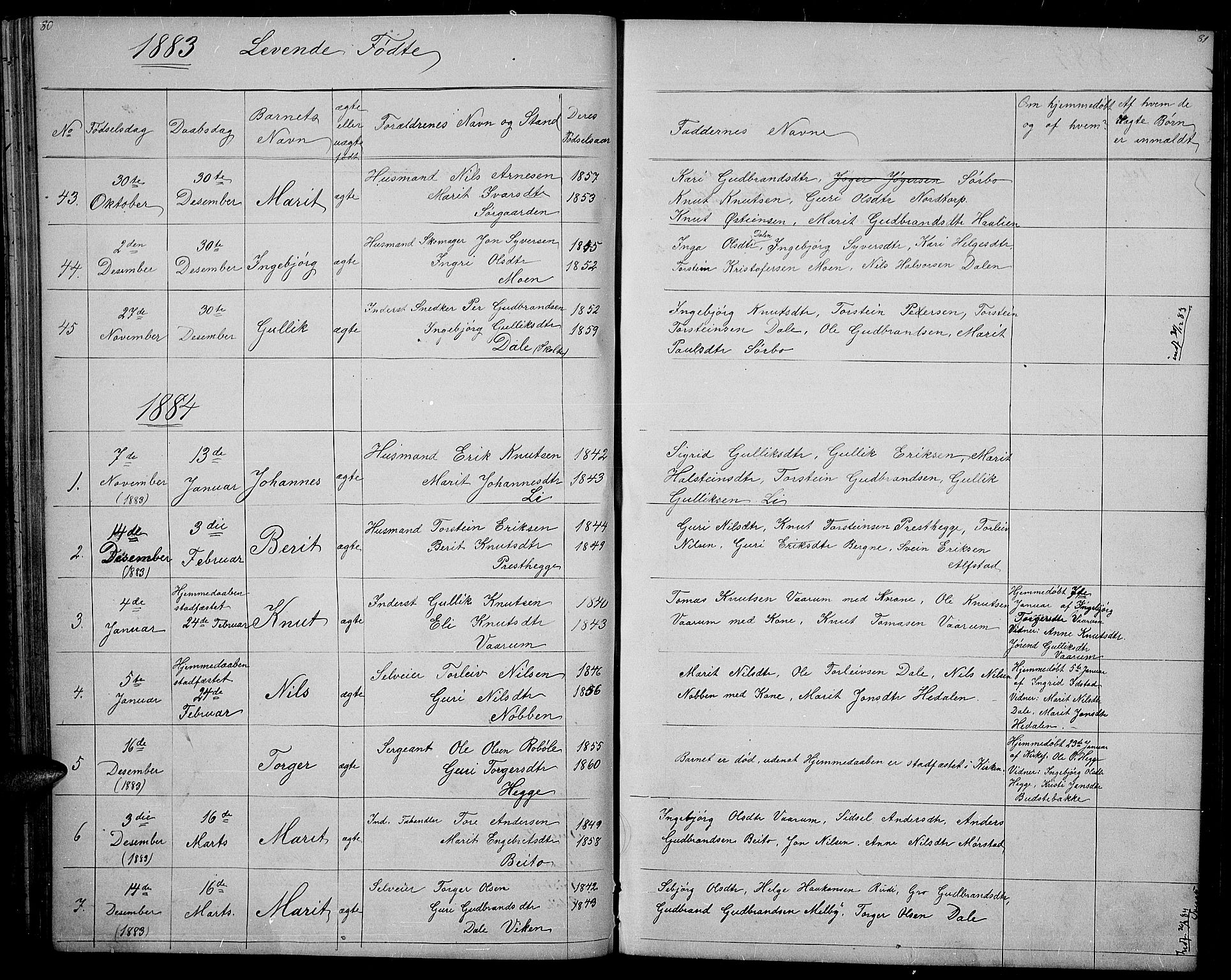 SAH, Øystre Slidre prestekontor, Klokkerbok nr. 1, 1866-1886, s. 80-81