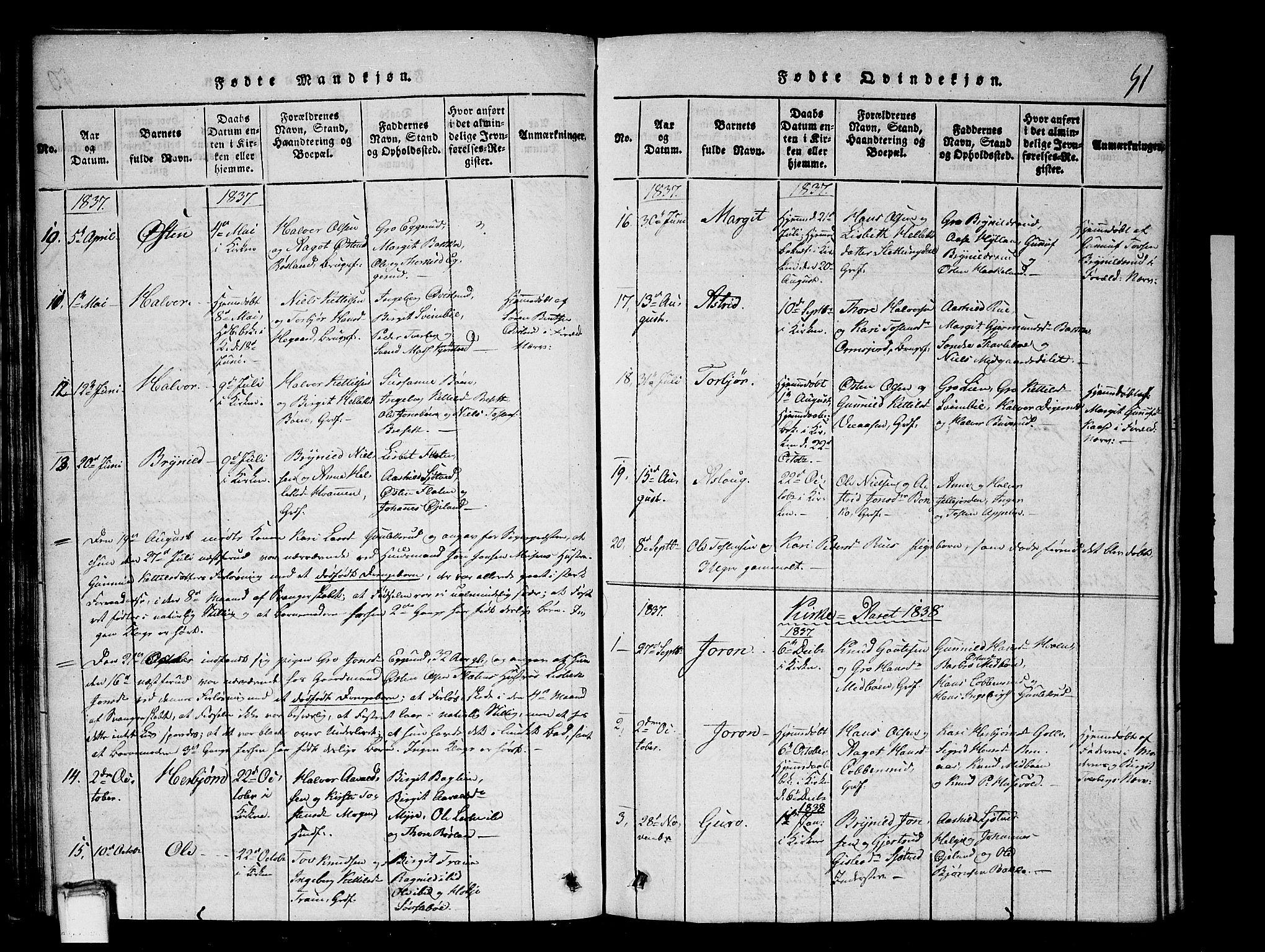 SAKO, Tinn kirkebøker, G/Gb/L0001: Klokkerbok nr. II 1 /2, 1837-1850, s. 51
